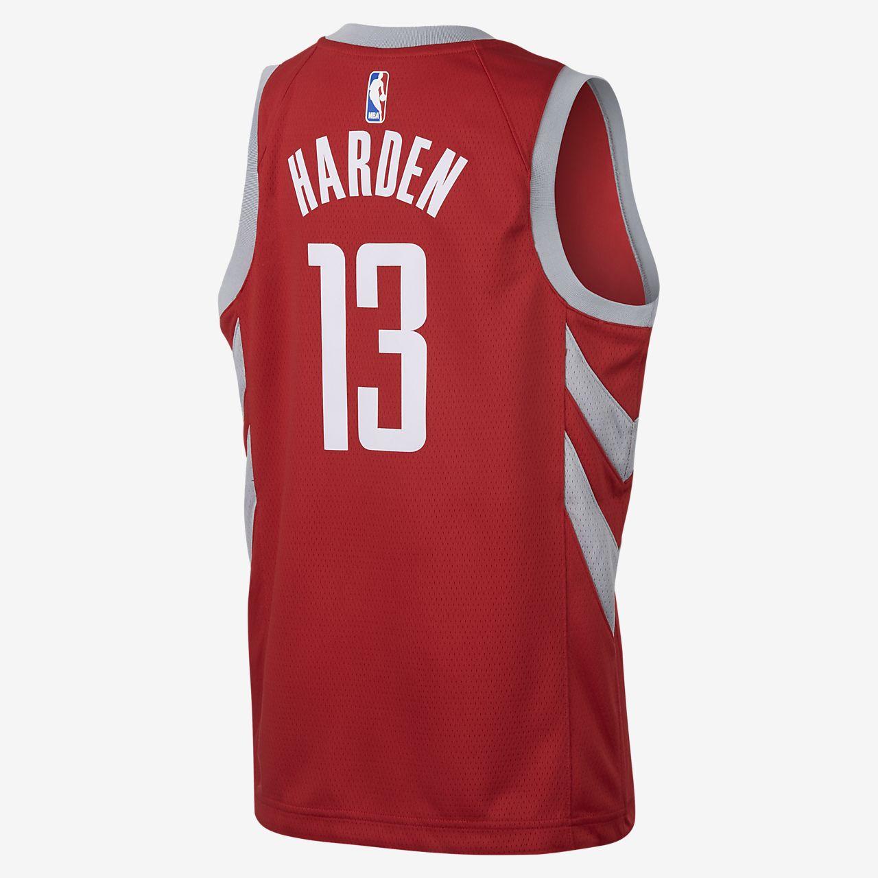 finest selection 4adca 5b517 James Harden Houston Rockets Nike Icon Edition Swingman Big Kids' NBA Jersey