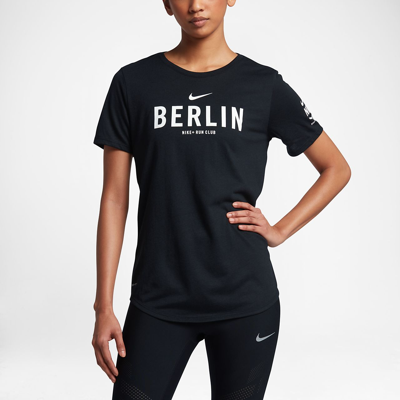 nike dri fit run club berlin women 39 s t shirt ro. Black Bedroom Furniture Sets. Home Design Ideas