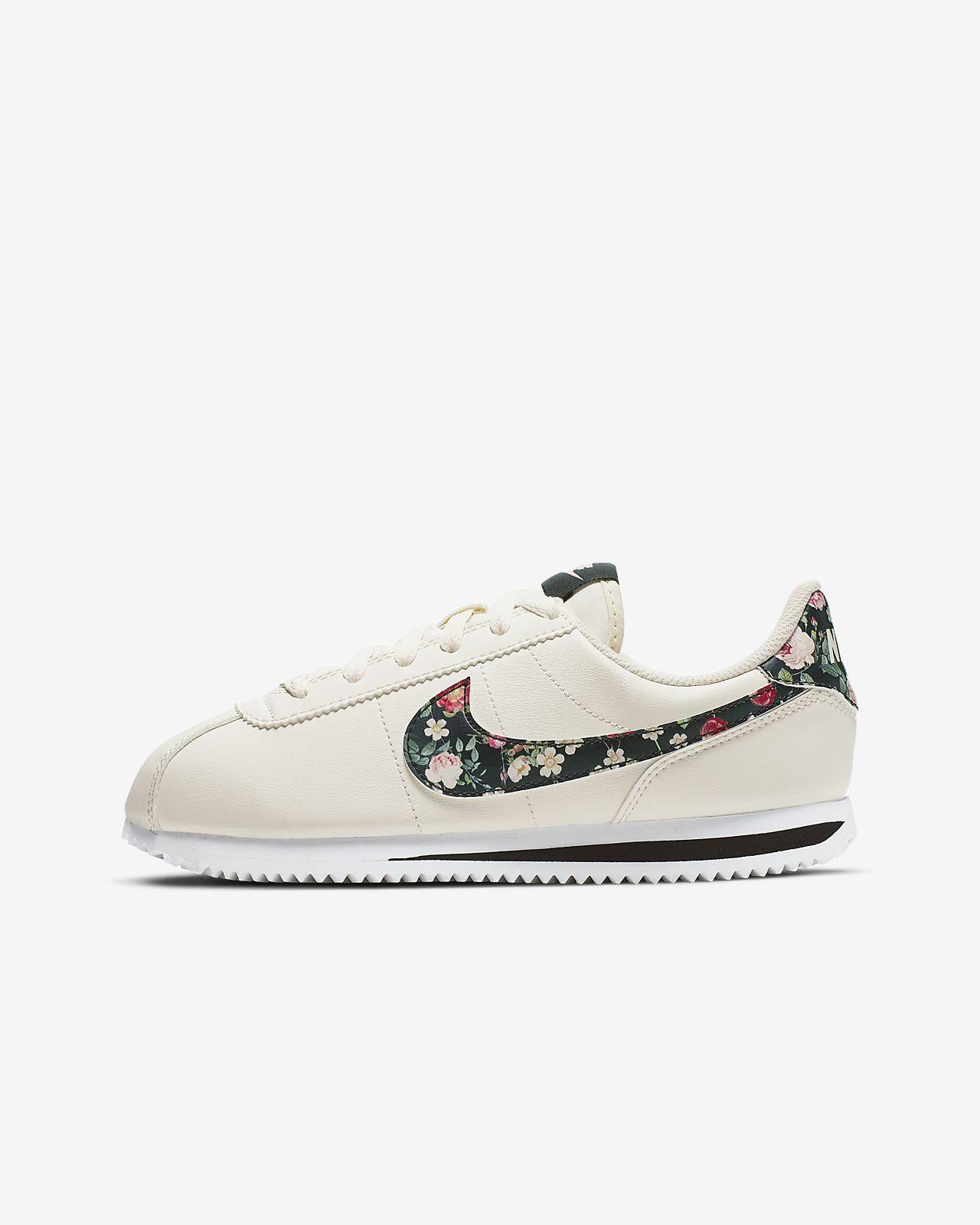 Calzado para niños talla grande Nike Cortez Basic Vintage Floral