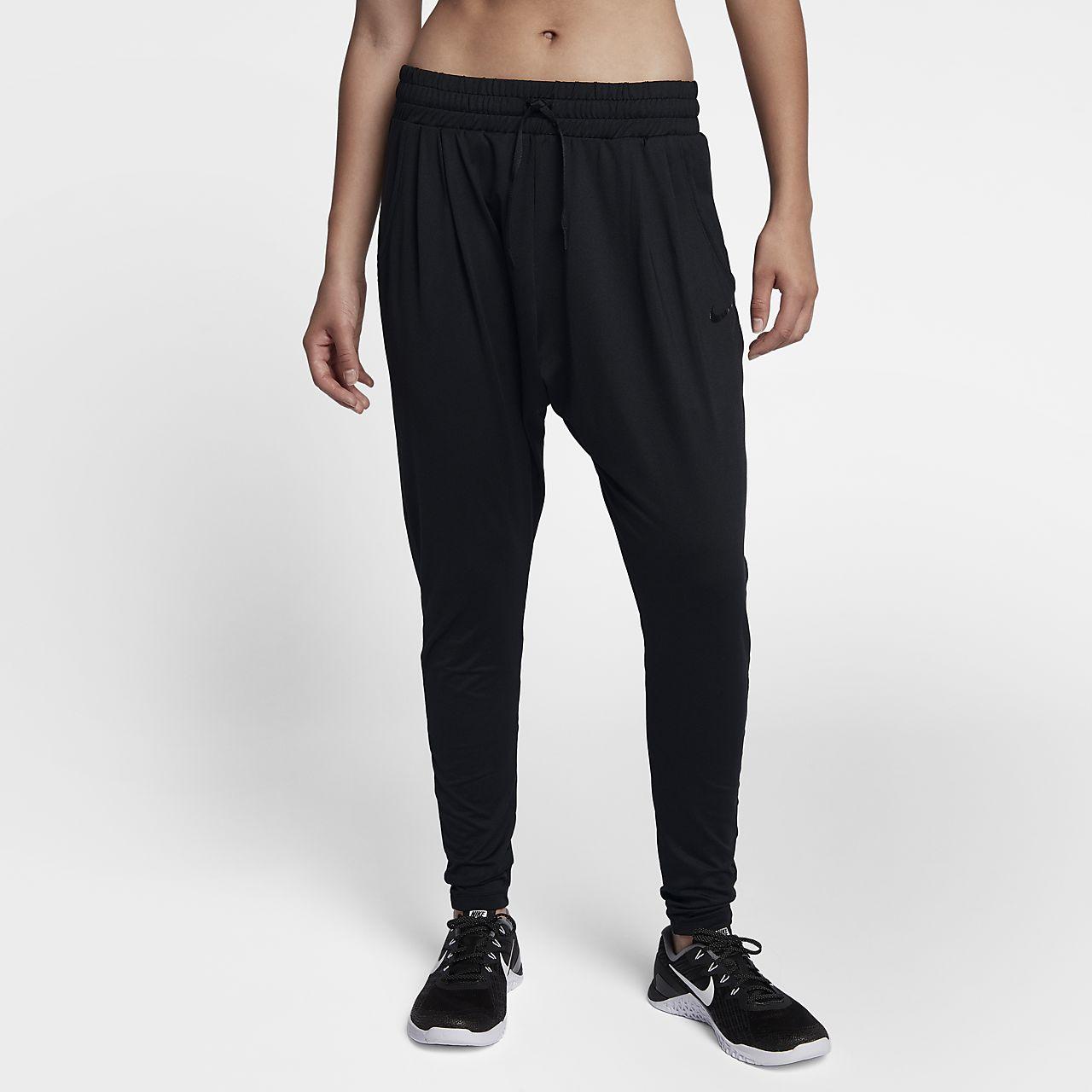 Nike Dri-FIT Lux Flow-træningsbukser med mellemhøj talje til kvinder