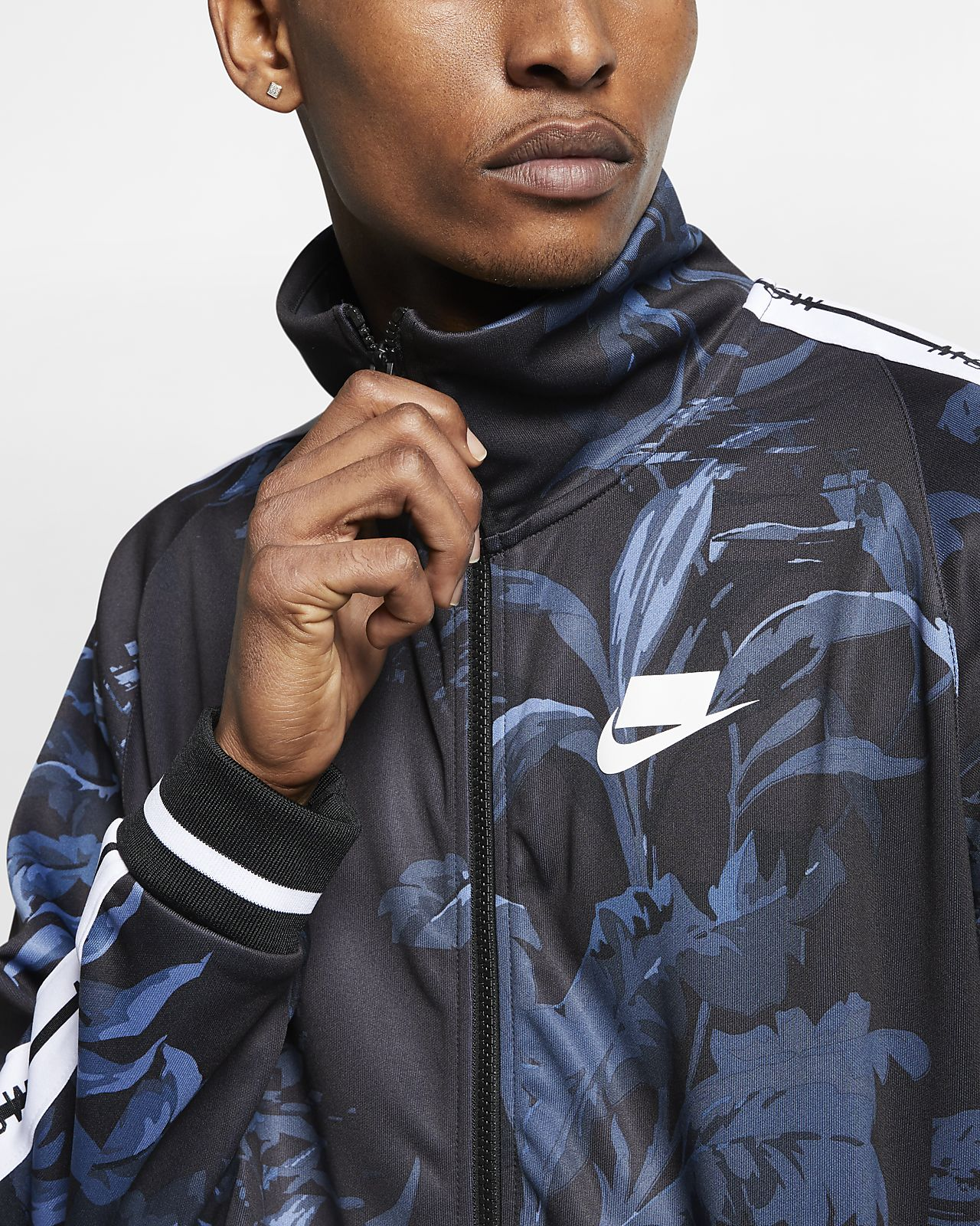 a06f835a83 ... Track Jacket Nike Sportswear NSW  Palm Tree  Men s Foldable Collar ...