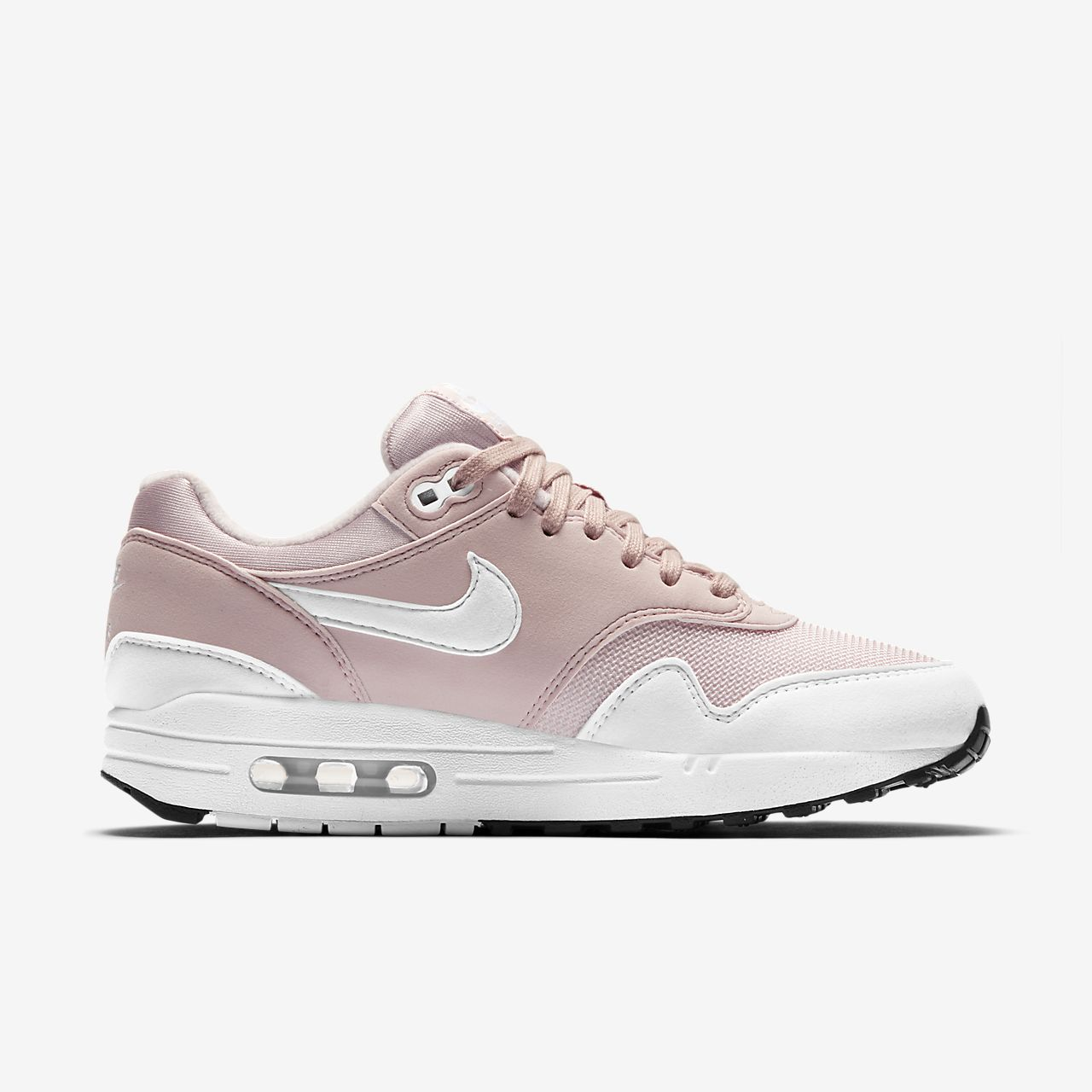 Nike Sportswear AIR MAX 1 - Trainers - barely rose/white QD6NYS4OIW
