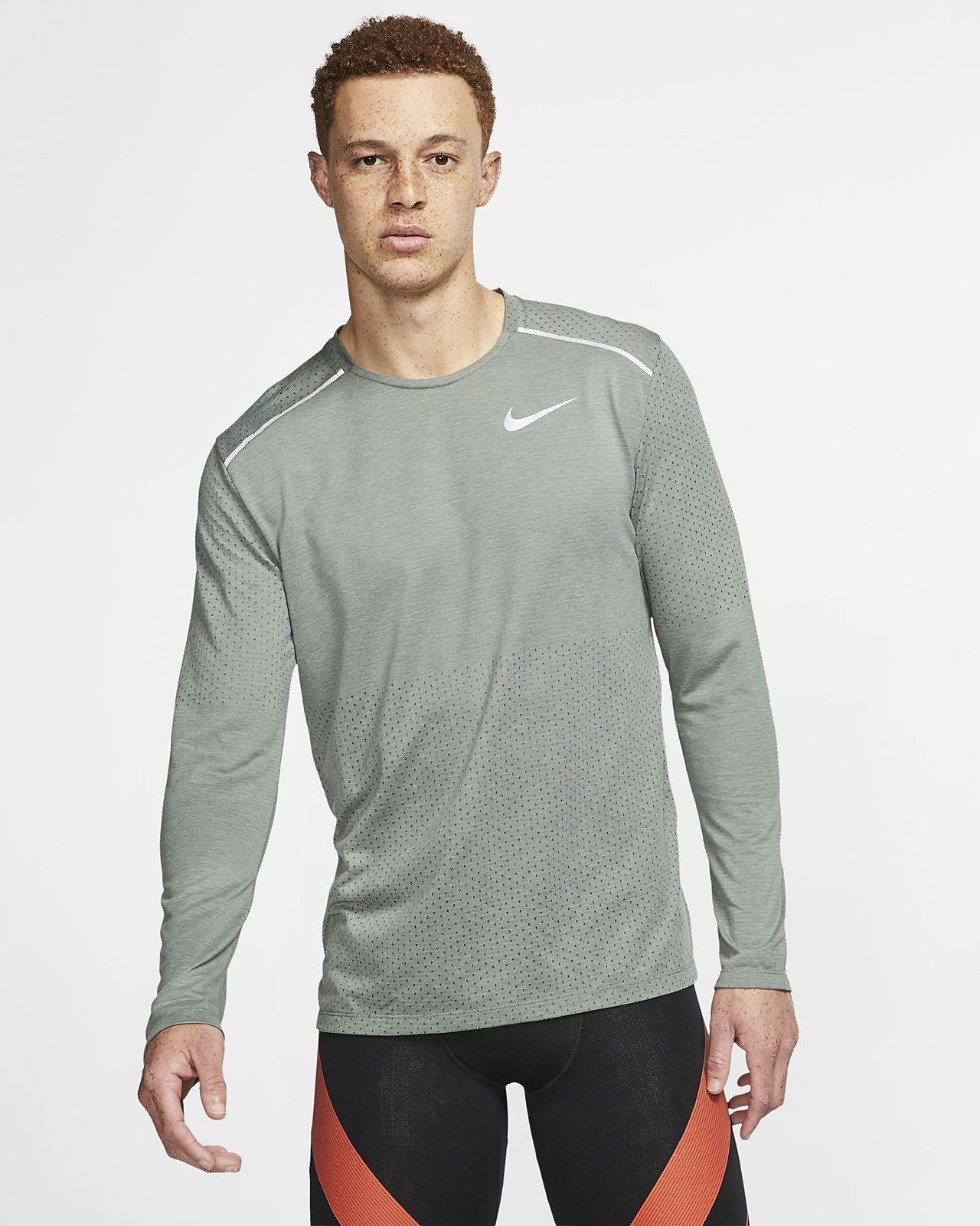 Långärmad löpartröja Nike Rise 365 för män