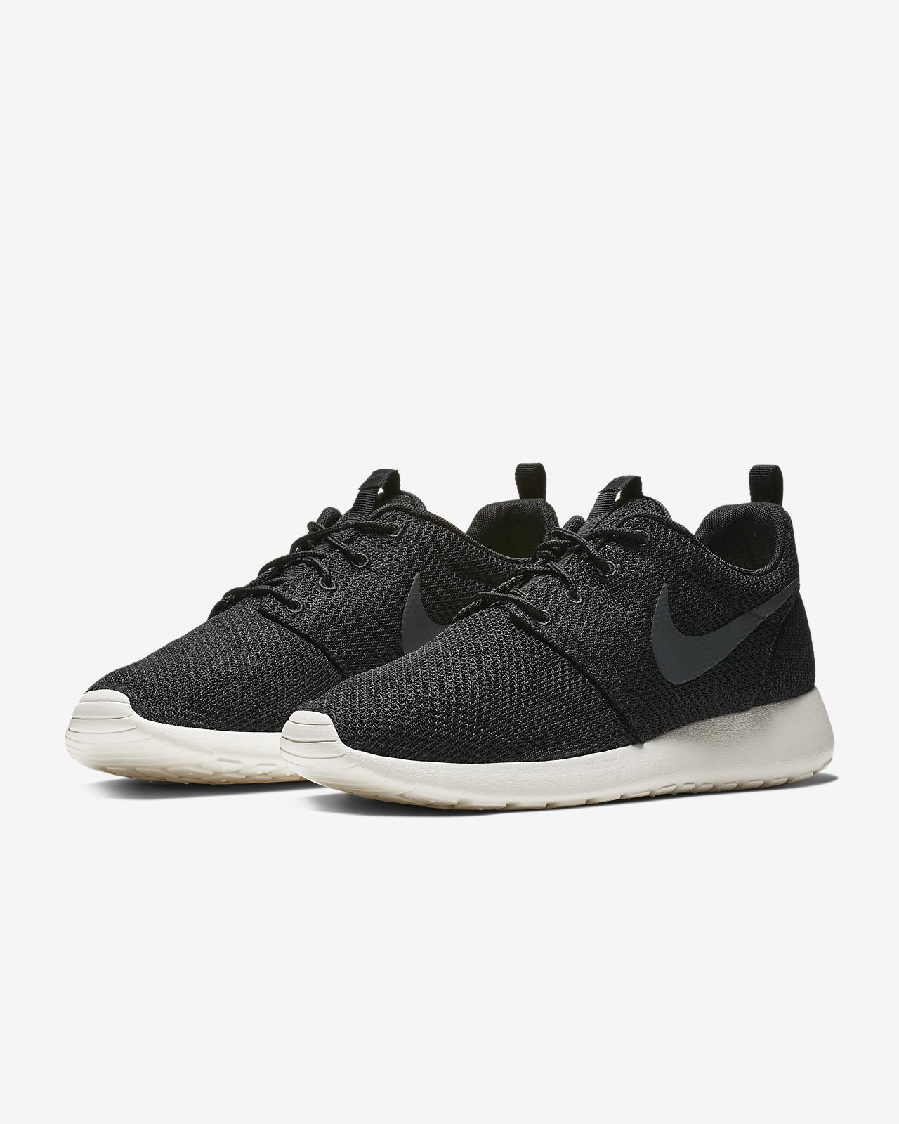 Nike Roshe Run One Mens Shoes 10.5 Black Anthracite Sail 511881 010