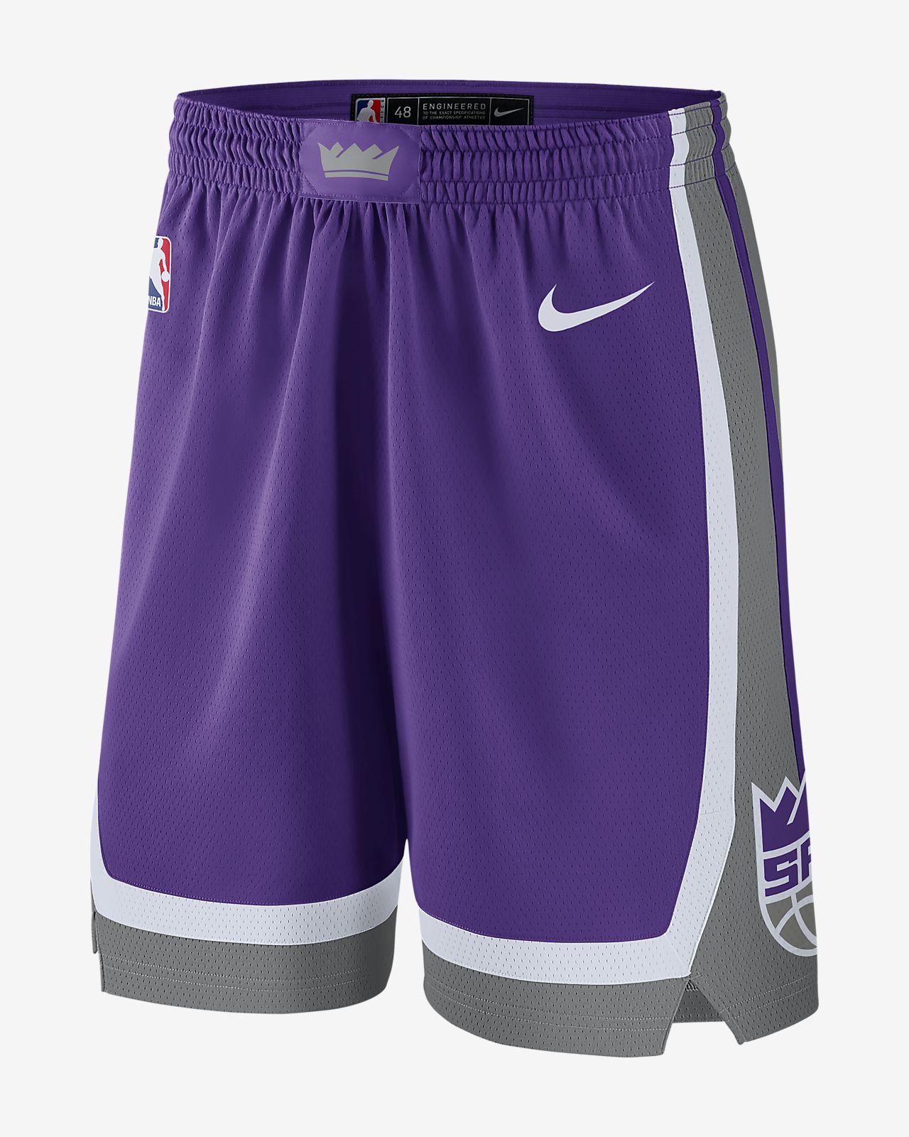 Short NBA Sacramento Kings Nike Icon Edition Swingman Nike pour Homme