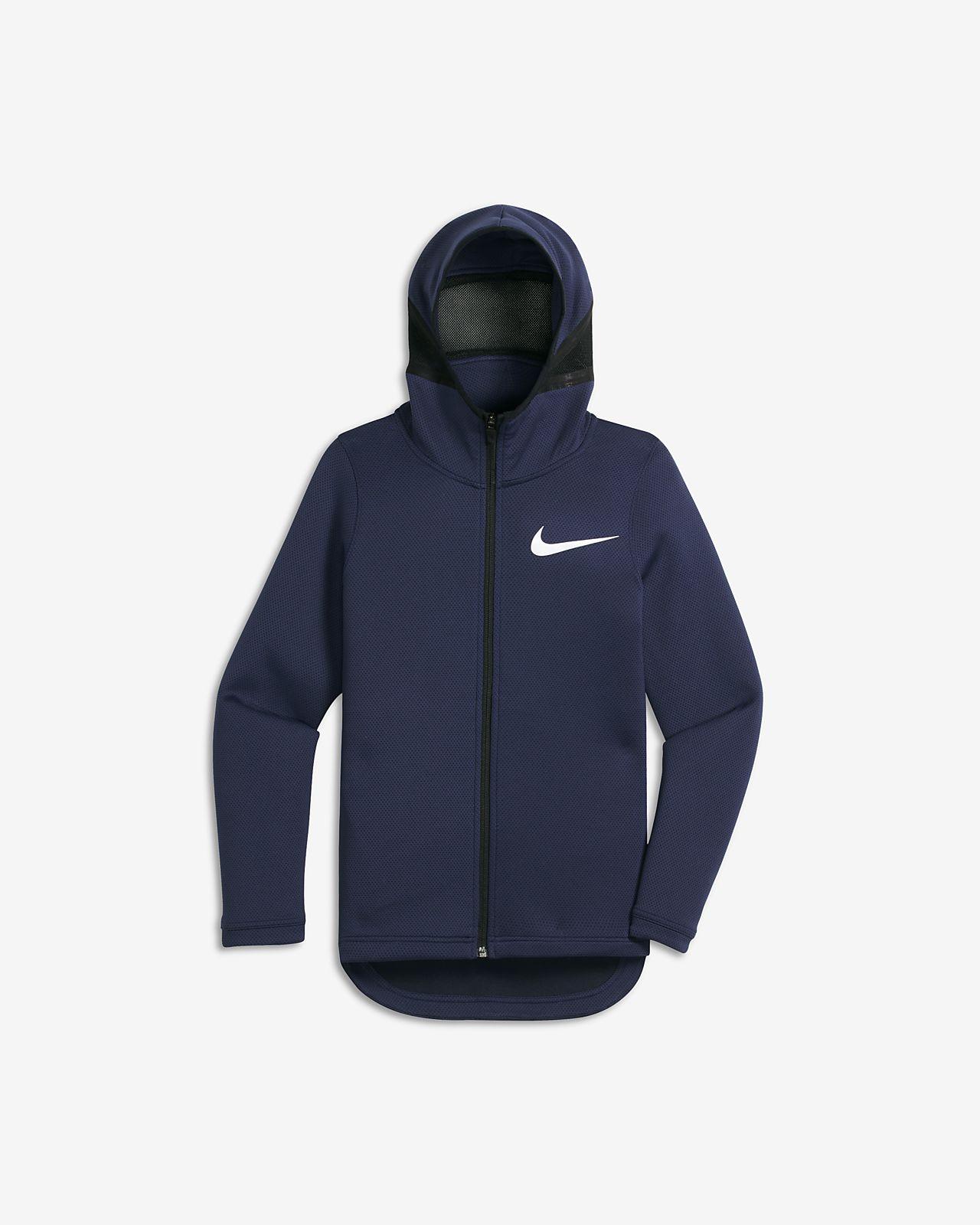 Nike SB Icon Big Kids' Hoodies Palm Green/Black