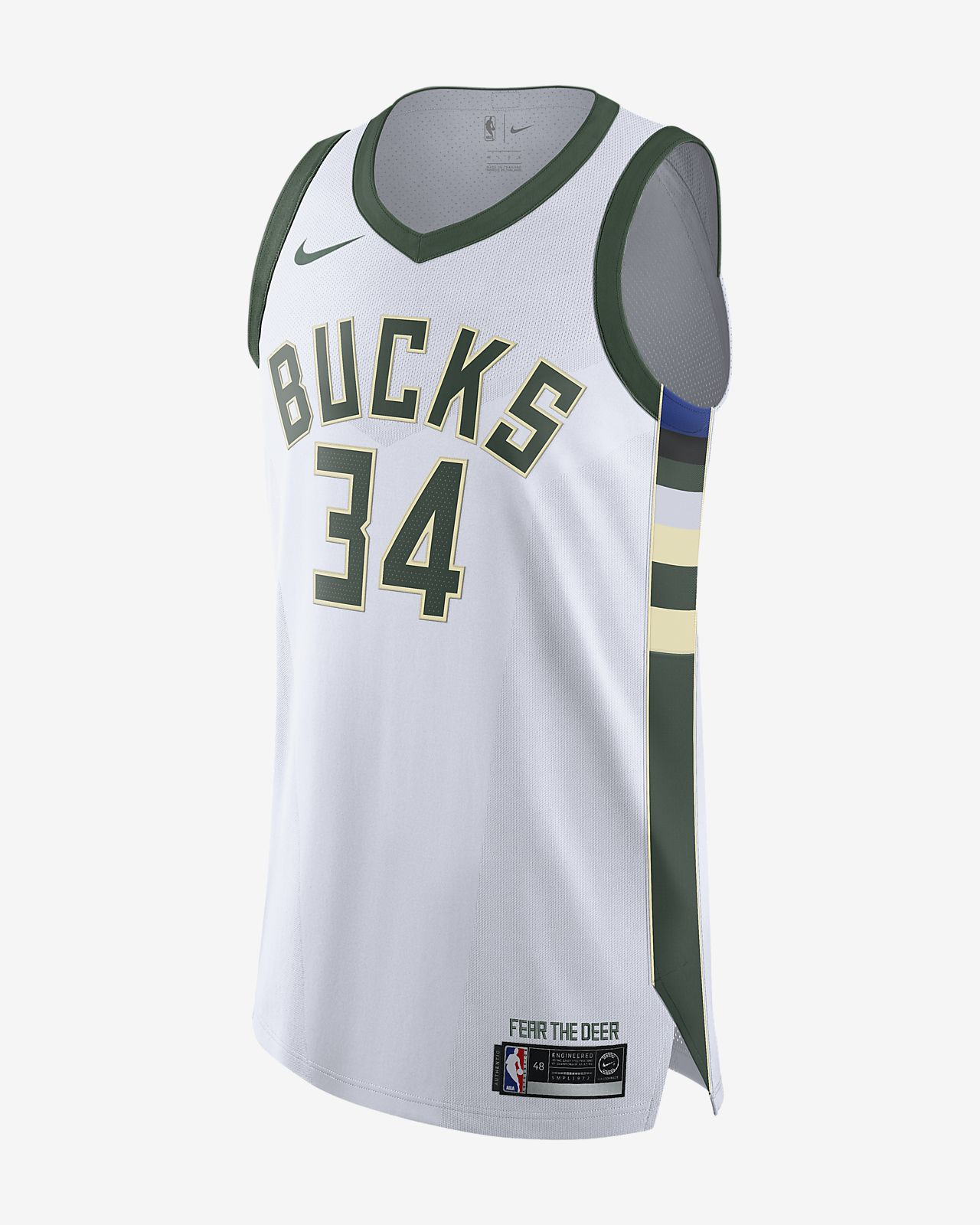 Giannis Antetokounmpo Bucks Association Edition Nike NBA Authentic Jersey