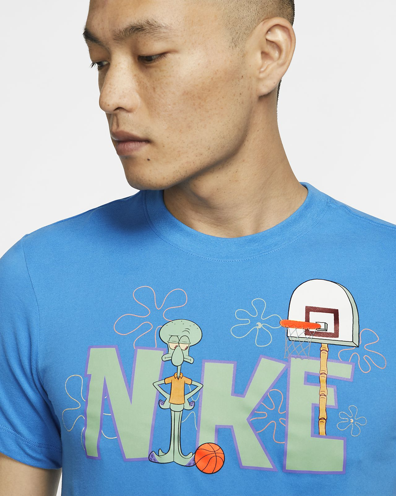 NIKE DRI FIT SPONGEBOB Kyrie Basketball Shirt Big Kids Boys