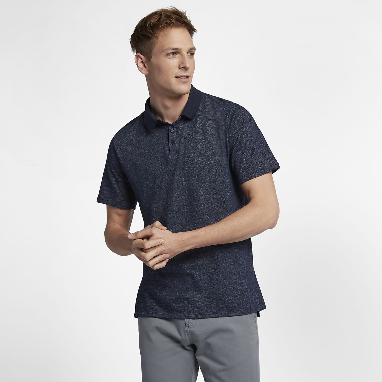 Мужская рубашка-поло с коротким рукавом Hurley Dri-FIT Lagos