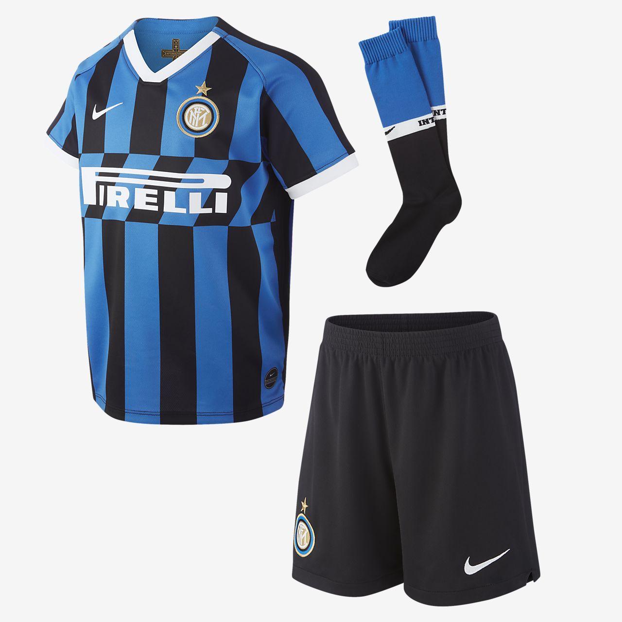 Inter Milan 2019/20 Home-fodboldsæt til små børn