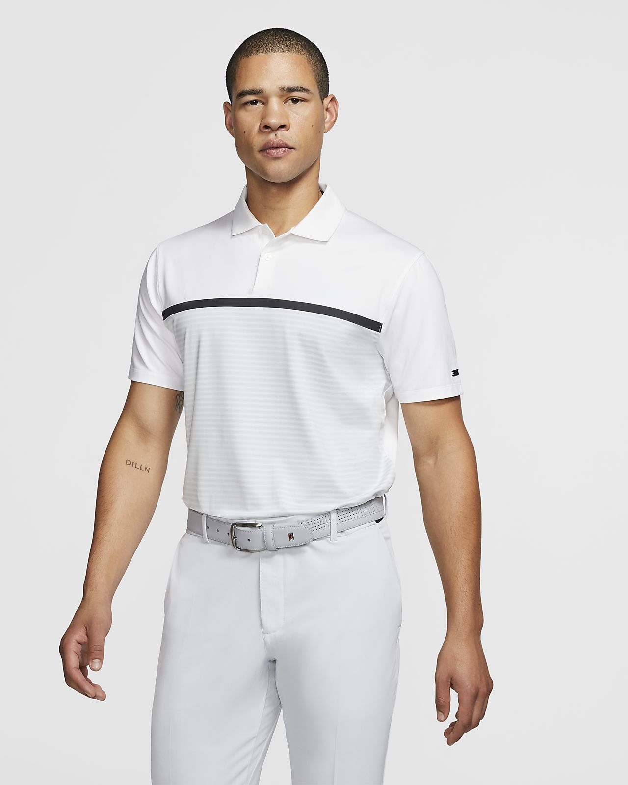 Nike Dri-FIT Tiger Woods Vapor Polo de golf a rayas - Hombre