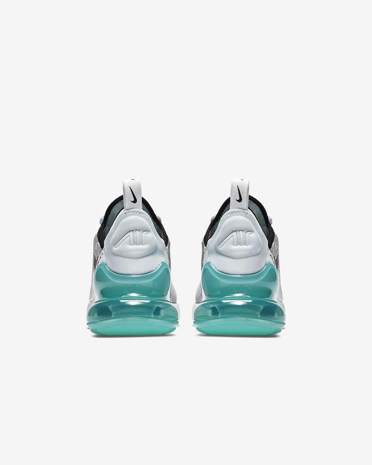 Détails sur Nike Air Max 270 Pure Platinum Hyper Jade Blanc Noir Enfants Garçons Fille Baskets afficher le titre d'origine