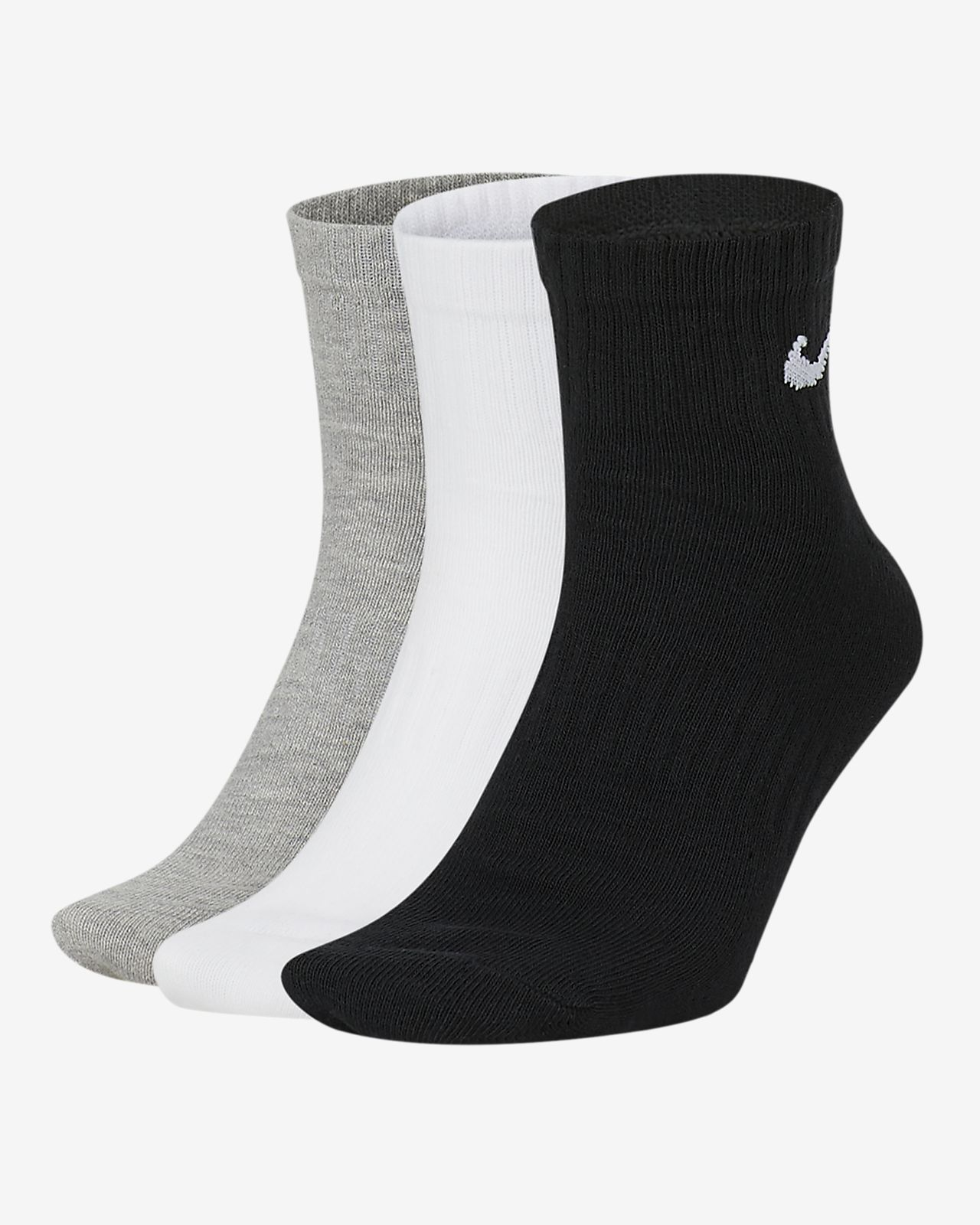 Nike Everyday Lightweight Ankle Training Socks (3 Pair)