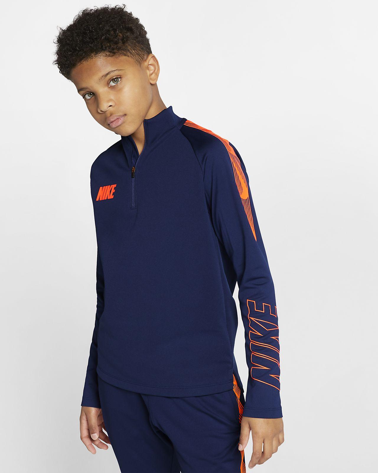 Camiseta de entrenamiento de fútbol para niños talla grande Nike Dri-FIT Squad