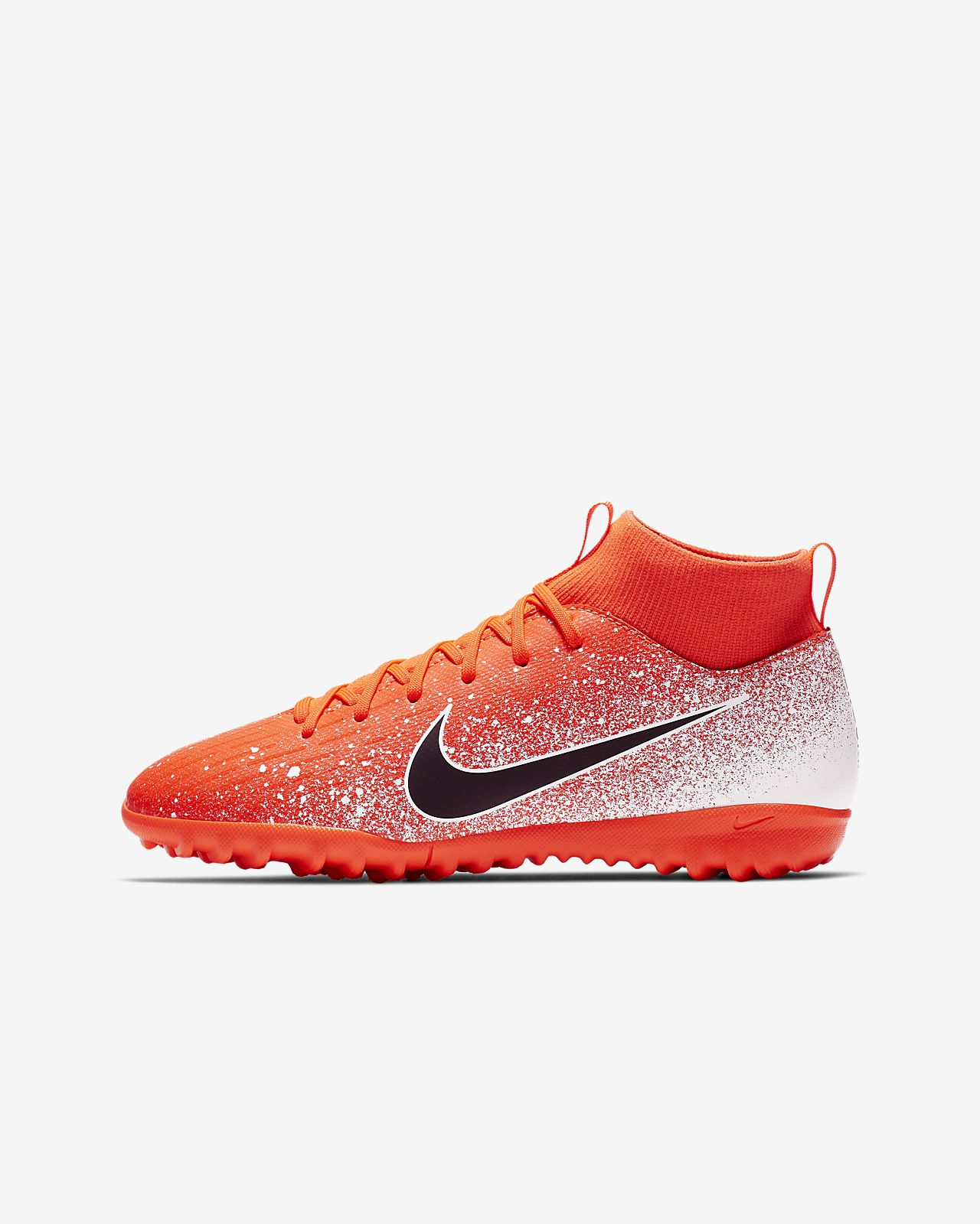 รองเท้าสตั๊ดฟุตบอลเด็กเล็ก/เด็กโตสำหรับพื้นหญ้าเทียม Nike Jr. SuperflyX 6 Academy TF