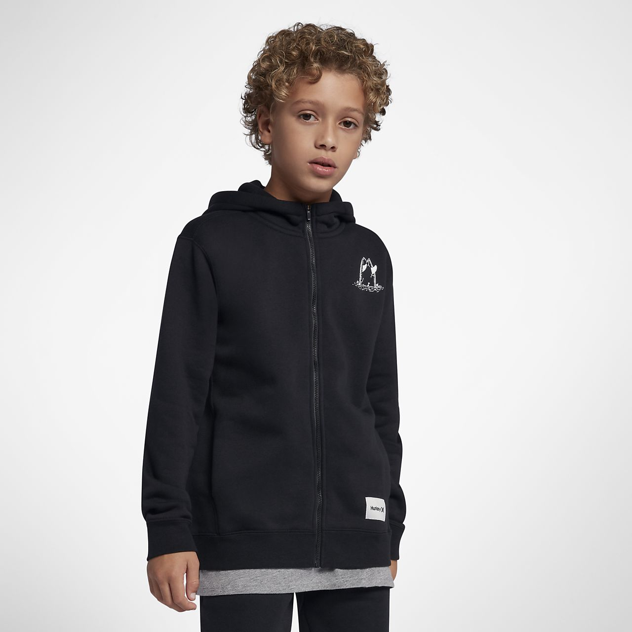 Hurley Surf Check Rip Boys' Full-Zip Hoodie