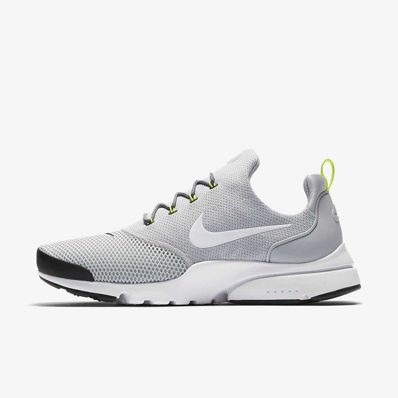 Nike Presto Fly Herren Sneaker Wolf Grey/White 45 EU  42.5 EU