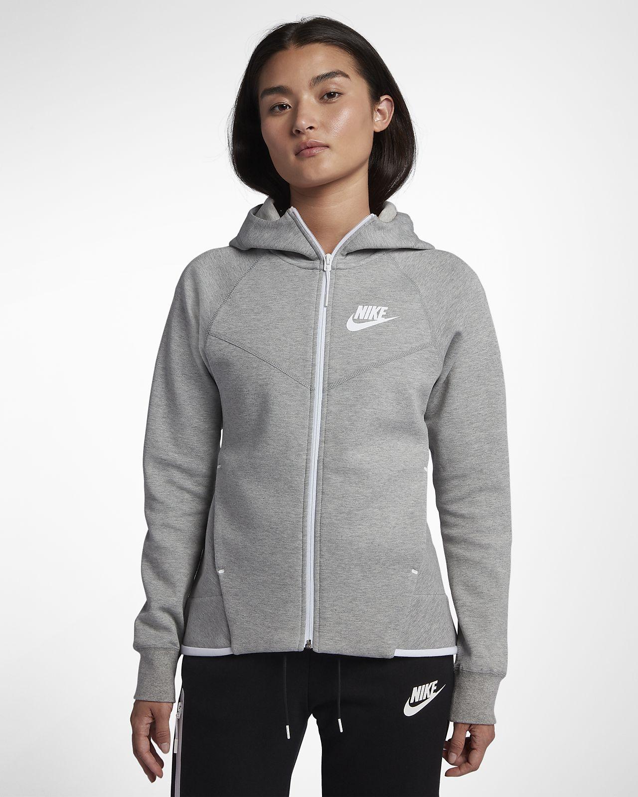 Hoodie com fecho completo Nike Sportswear Tech Fleece Windrunner para mulher