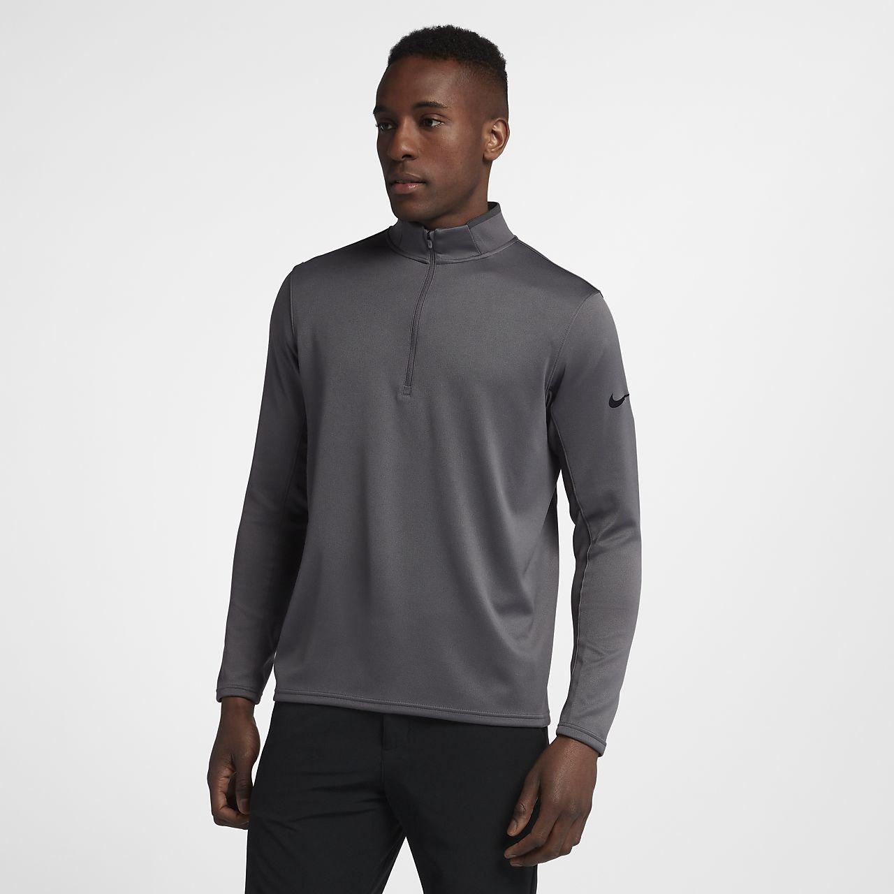 Мужская футболка для гольфа с длинным рукавом Nike Dri-FIT Half-Zip