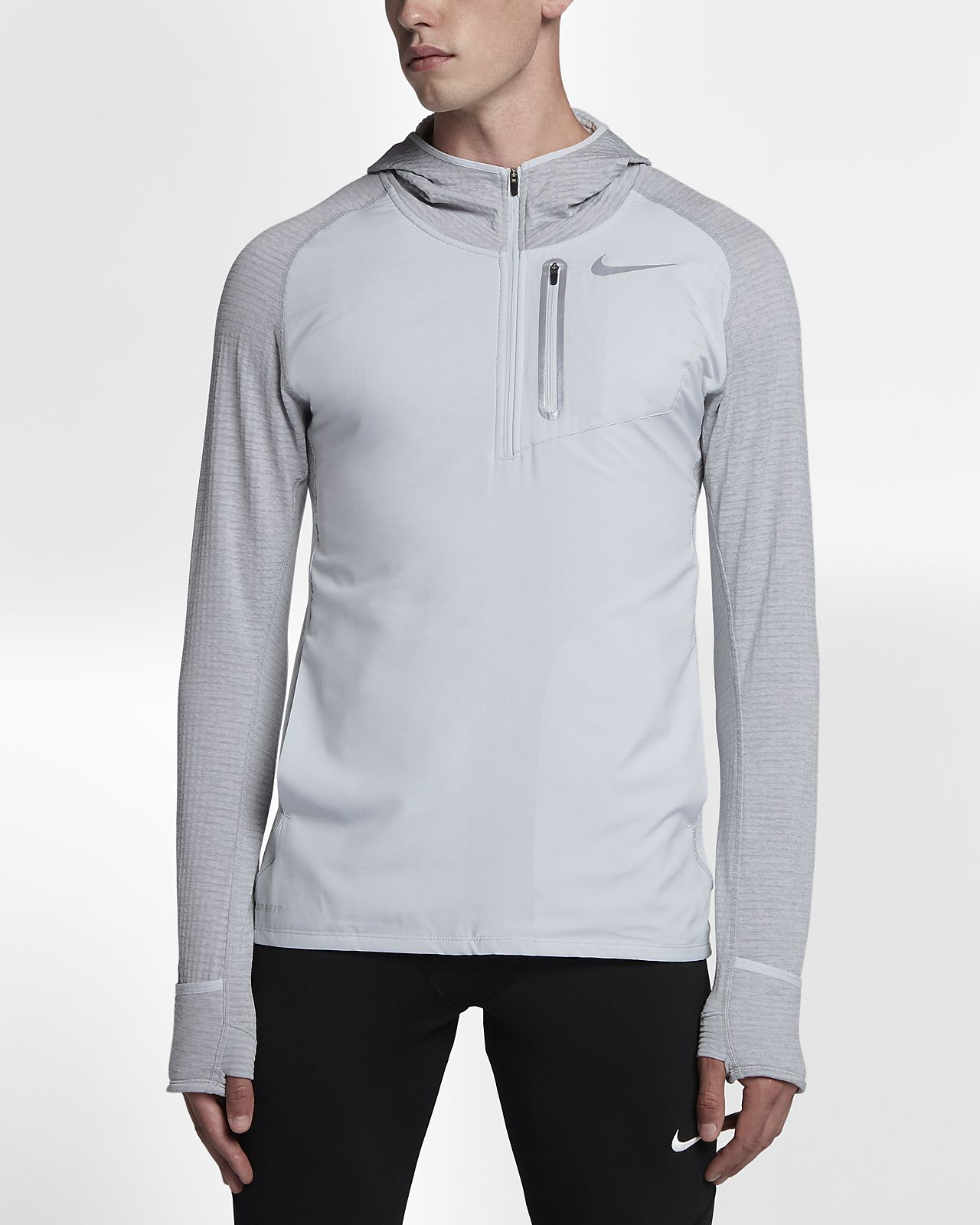 nike therma sphere element hybrid men 39 s half zip running. Black Bedroom Furniture Sets. Home Design Ideas