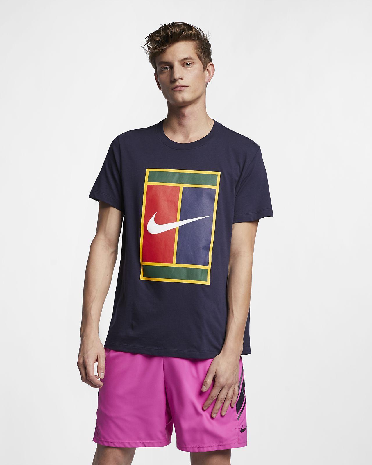 NikeCourt Logolu Erkek Tenis Tişörtü