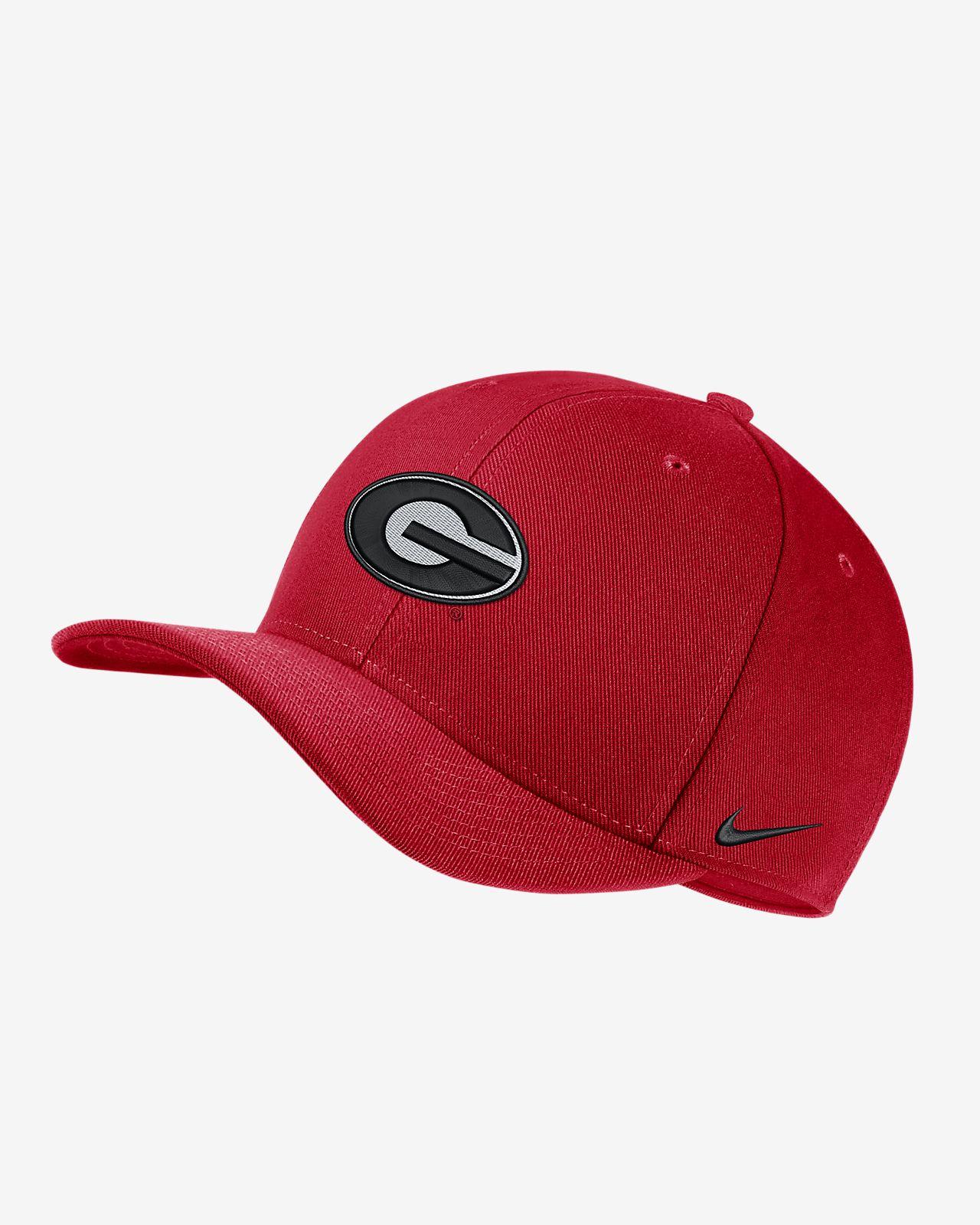 Nike College Dri-FIT Classic99 Swoosh Flex (Georgia) Fitted Hat ... 7222b9e08f9