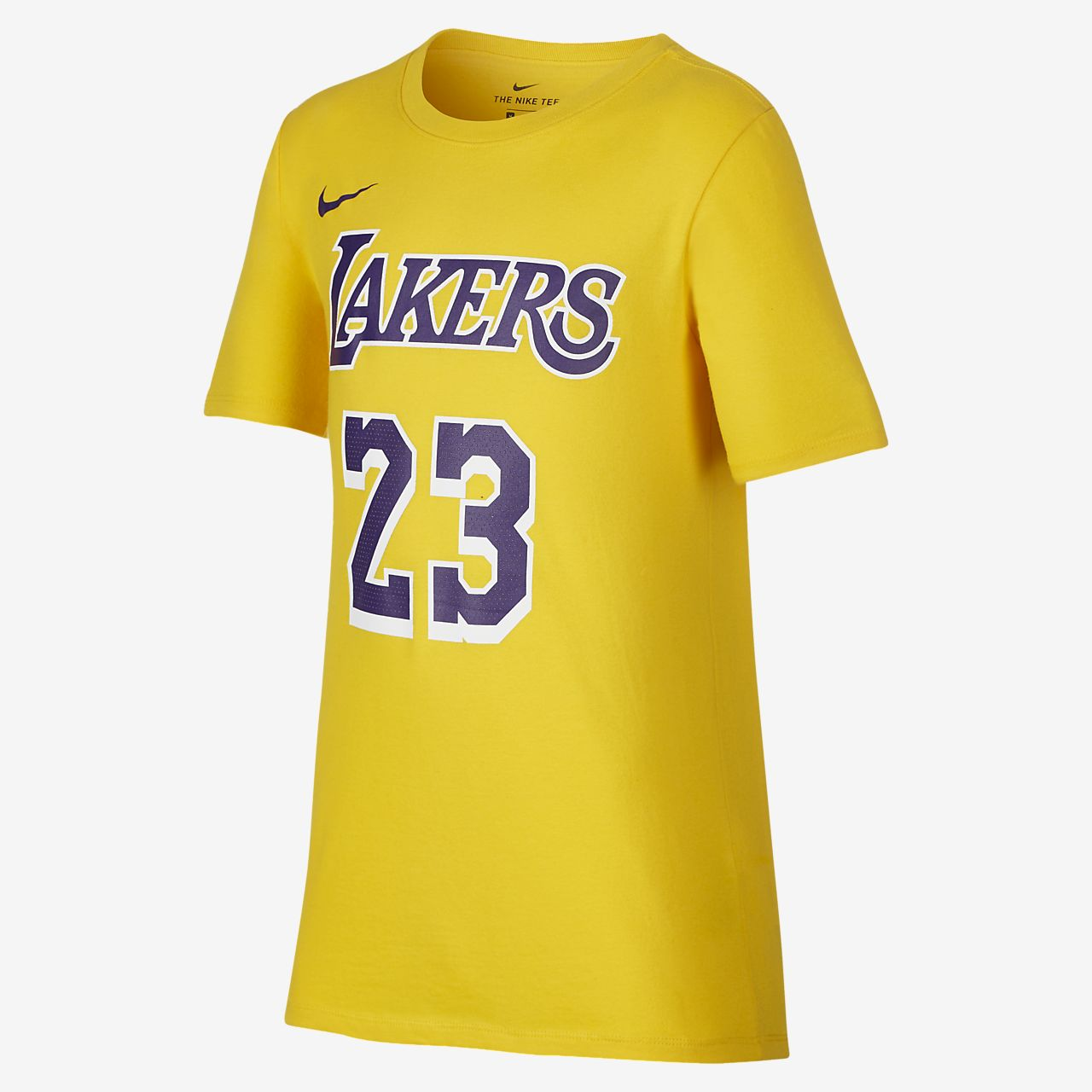 Los Angeles Lakers Nike Dri-FIT-NBA-T-shirt til store børn