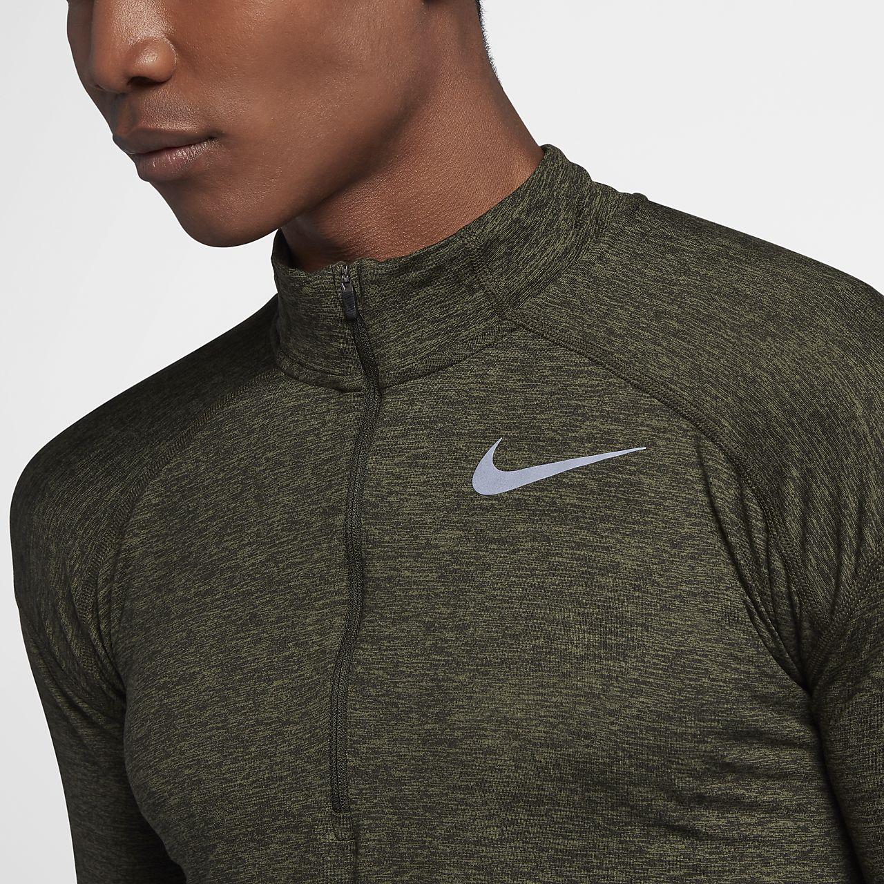 7faeb09b2 Nike Dri Fit Knit Half Zip Mens Running Shirt