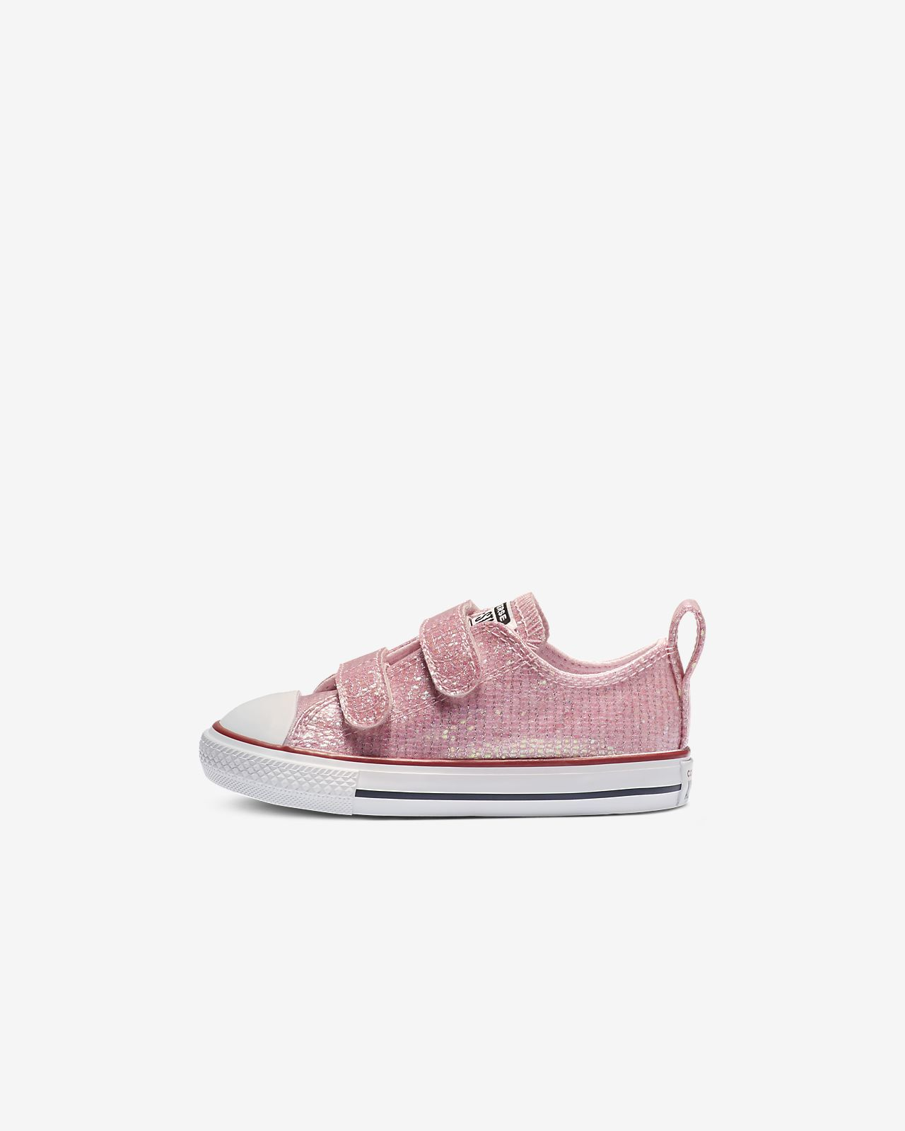 Converse Chuck Taylor All Star Hook and Loop Sparkle Low Top Toddler Shoe