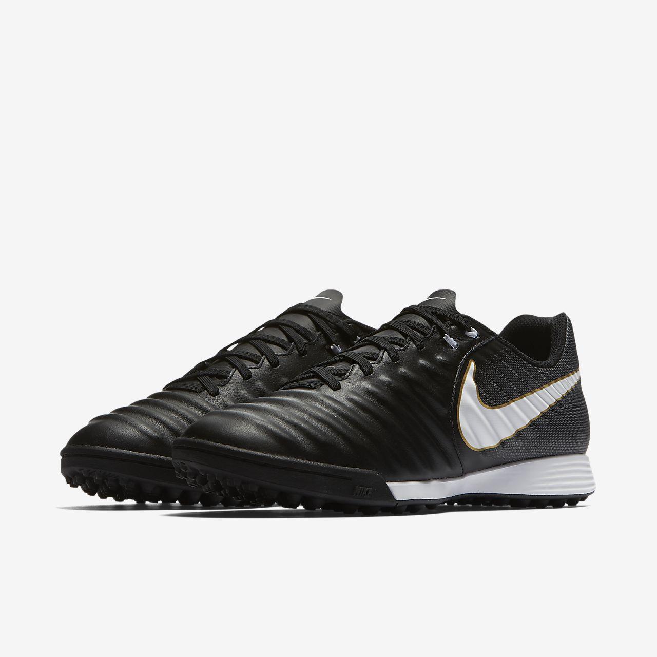 Nike Tiempox Ligera Iv TF, Chaussures de Football Homme, Noir (Black/White/Black 002), 47.5 EU