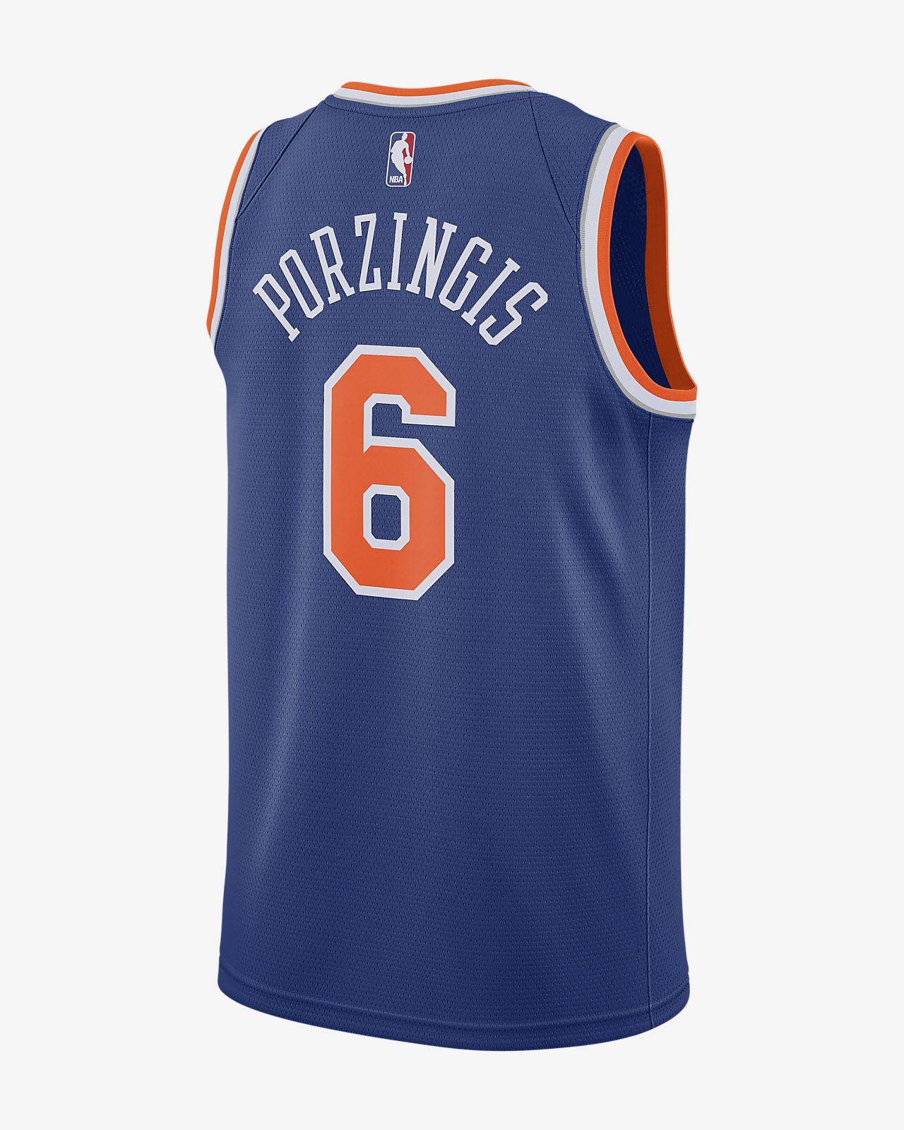2f436a1b1 Men s Nike NBA Connected Jersey. Kristaps Porziņģis Icon Edition Swingman (New  York Knicks)