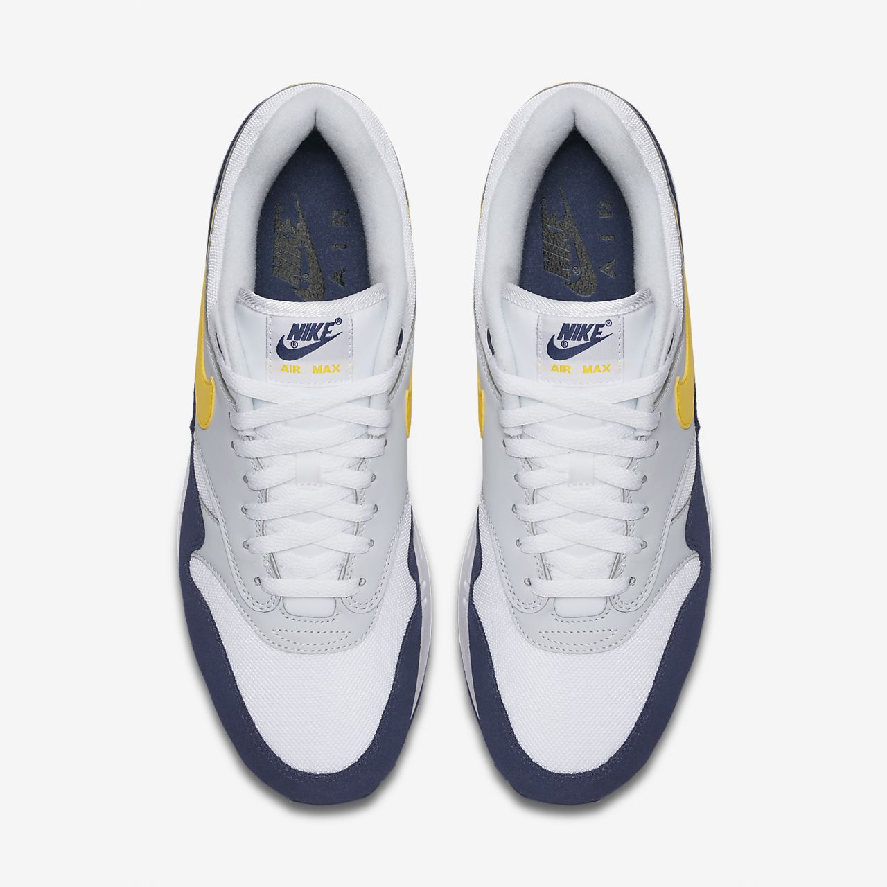 nike air max 1 wit/gum yellow/metallic silver/pure platinum
