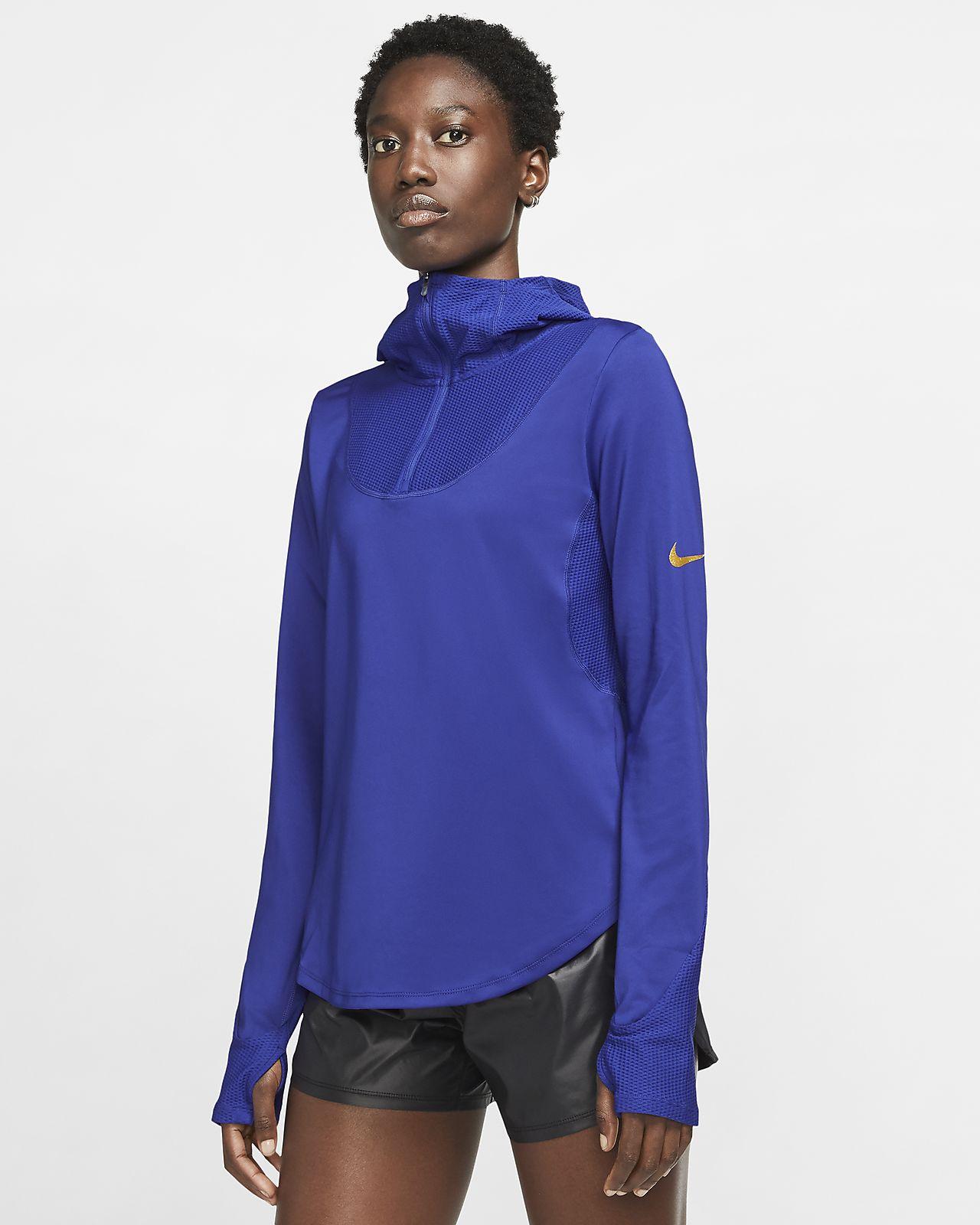 Prenda para la parte superior de running de manga larga para mujer Nike