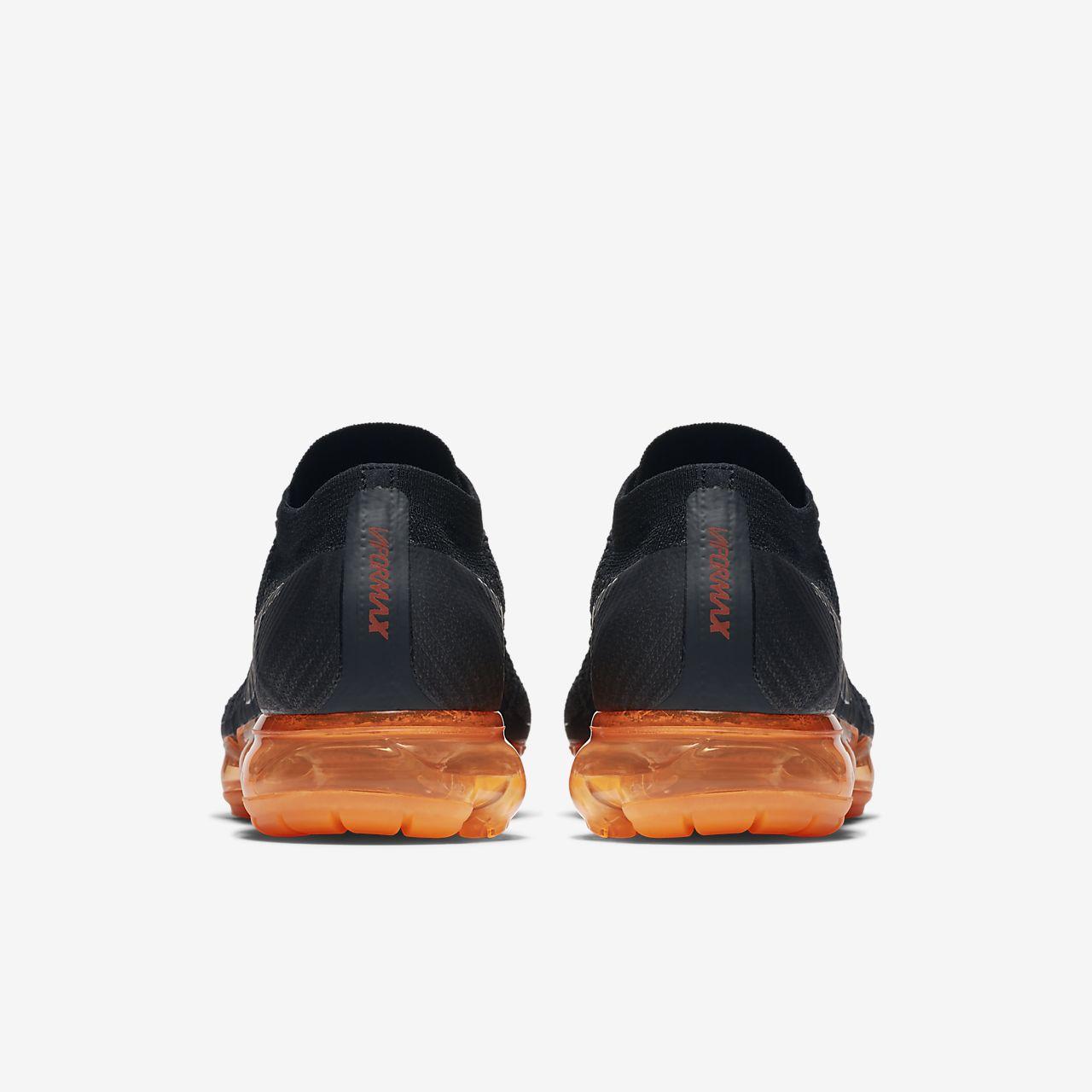 Nike Air Vapormax Flyknit Anthracite/Rush Orange Men's Shoe