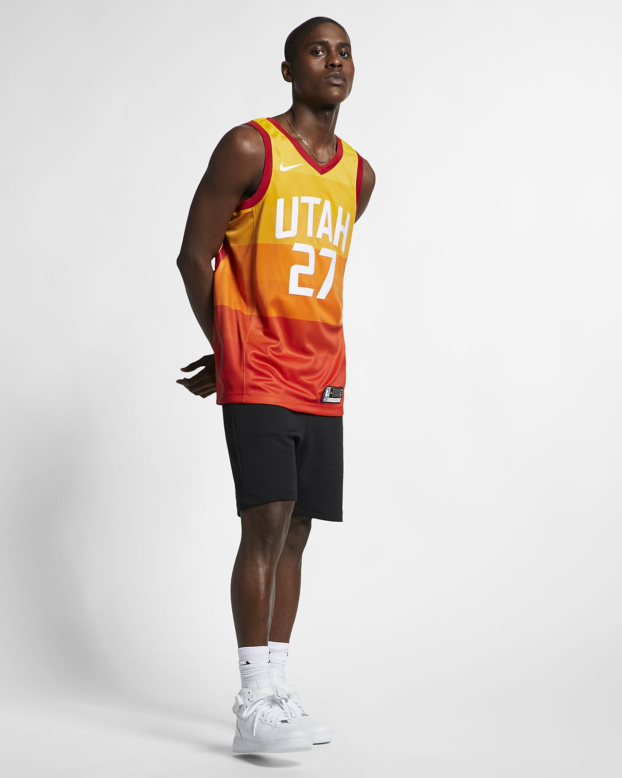 sports shoes e3ae5 6f989 ... Rudy Gobert City Edition Swingman (Utah Jazz) Men s Nike NBA Connected  Jersey