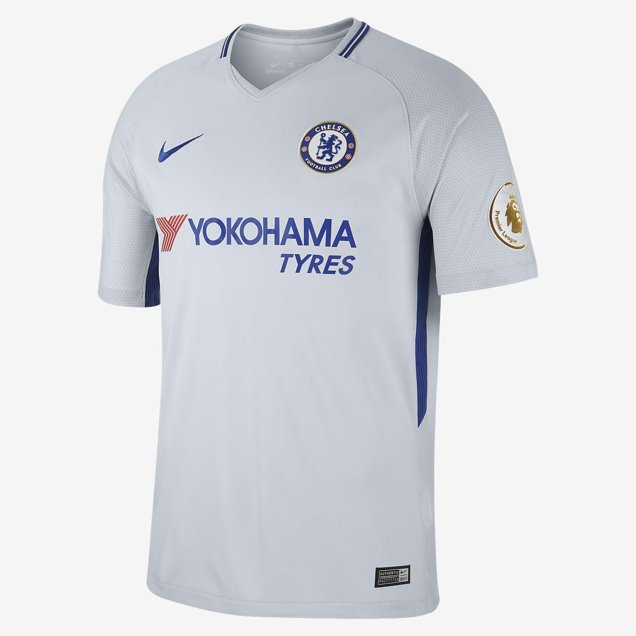 ... Camiseta de fútbol para hombre Chelsea FC (David Luiz) de visitante  para aficionados cd6fa0becd99f