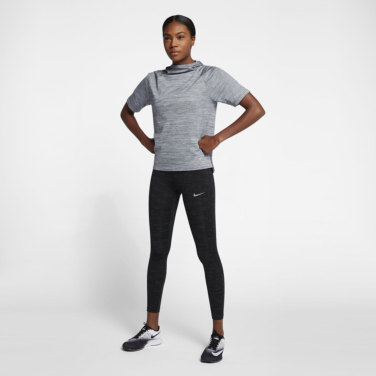... Nike Therma Women's Short Sleeve Running Hoodie