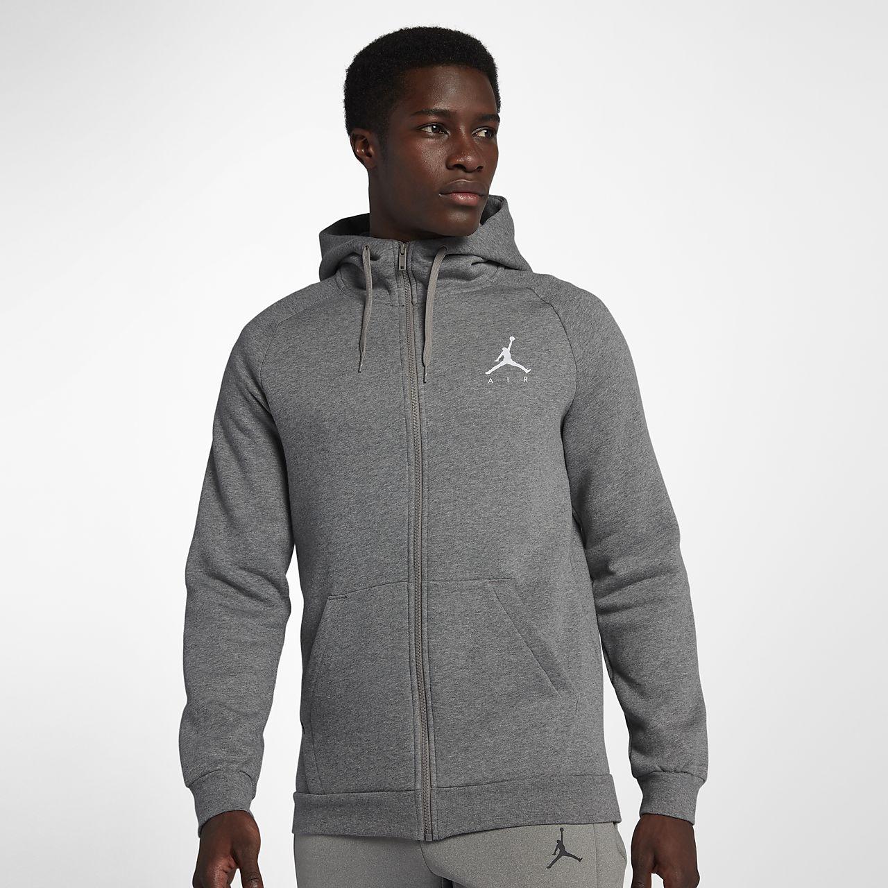 Jordan Jumpman-fleecehættetrøje med lynlås til mænd