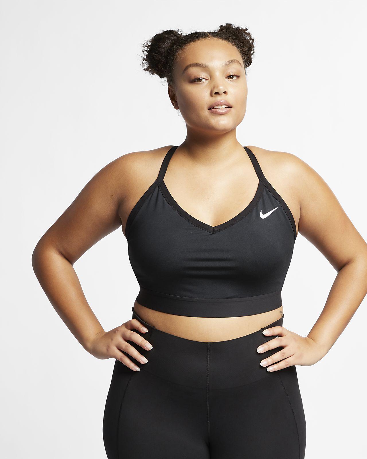 Sport-BH Nike Indy med lätt stöd för kvinnor (större storlek)