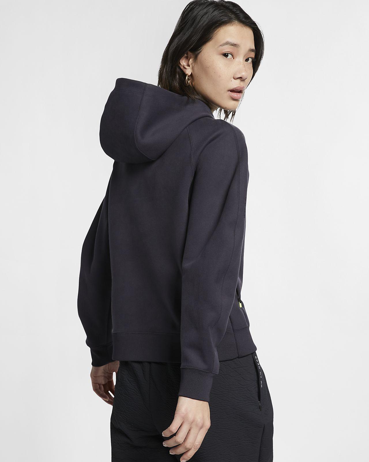 Felpa in fleece con cappuccio e zip a tutta lunghezza Nike Sportswear Tech Pack Donna