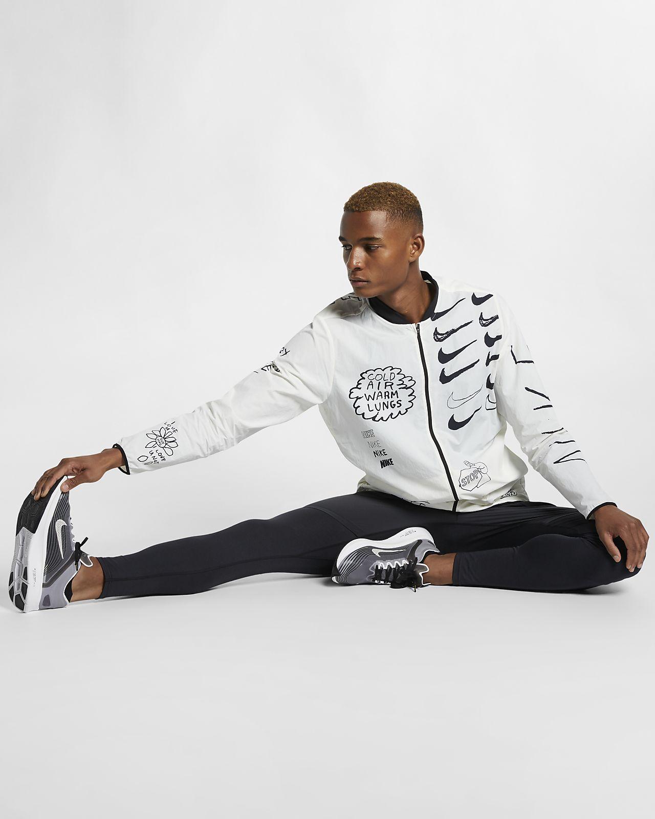 92bb6c3a Nike Nathan Bell løpejakke med trykk til herre. Nike.com NO