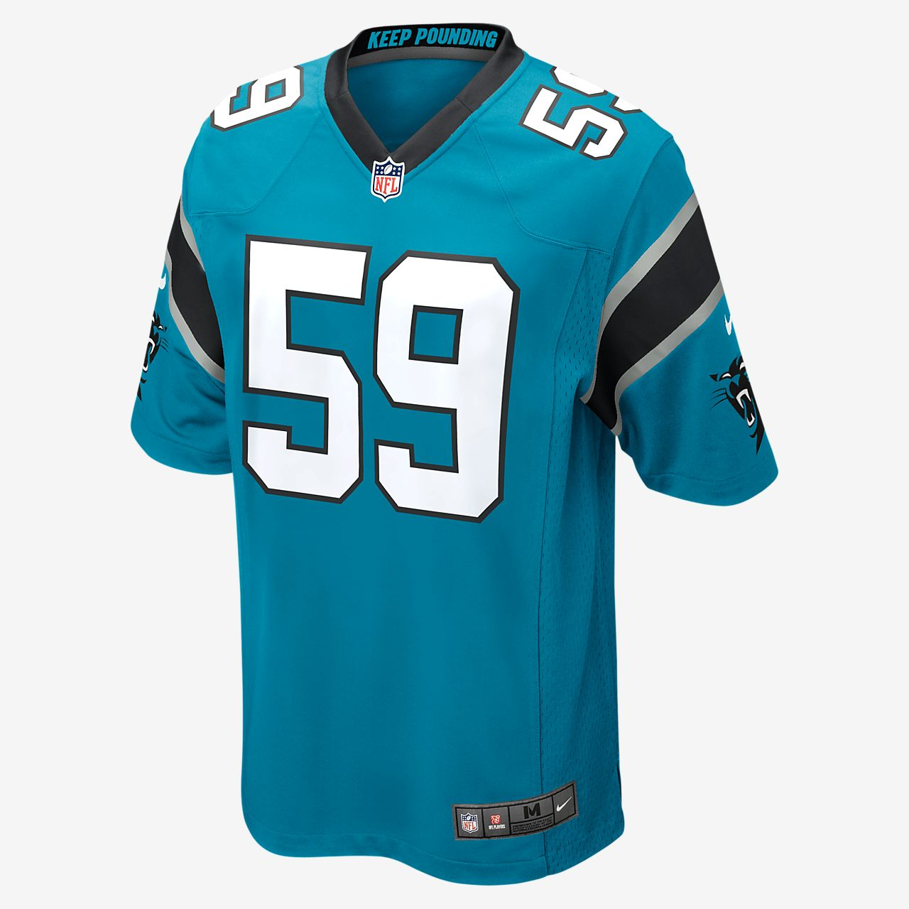 260df4a5f NFL Carolina Panthers (Luke Kuechly) Men s Football Game Jersey ...