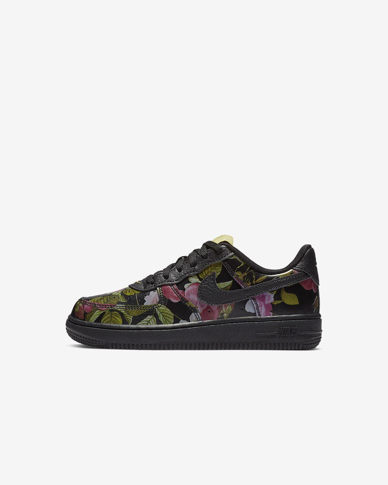 Calzado floral para niños talla pequeña Nike Force 1 LXX