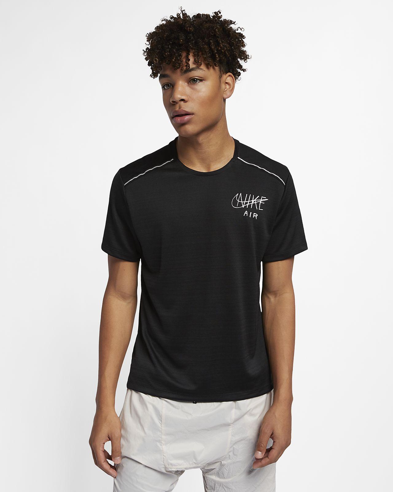 abbdc07f59 Nike Dri-FIT Miler Camiseta de manga corta con estampado de running - Hombre