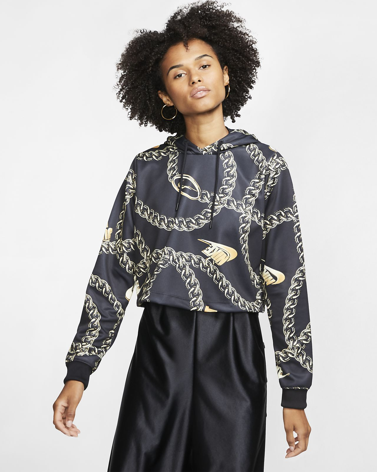 nike sportswear quilted funnel neck pullover