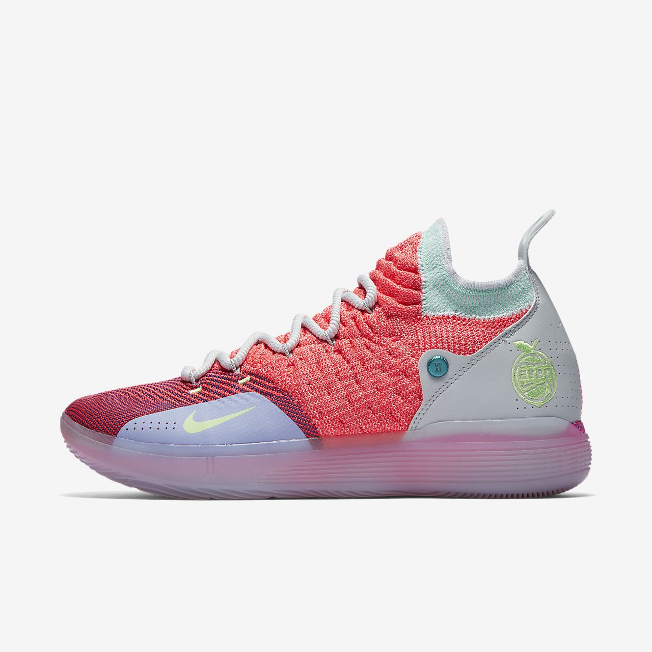 official photos da8cc eea12 nike kd 11 hot punch pure platinum twilight pulse lime blast ao2604 600