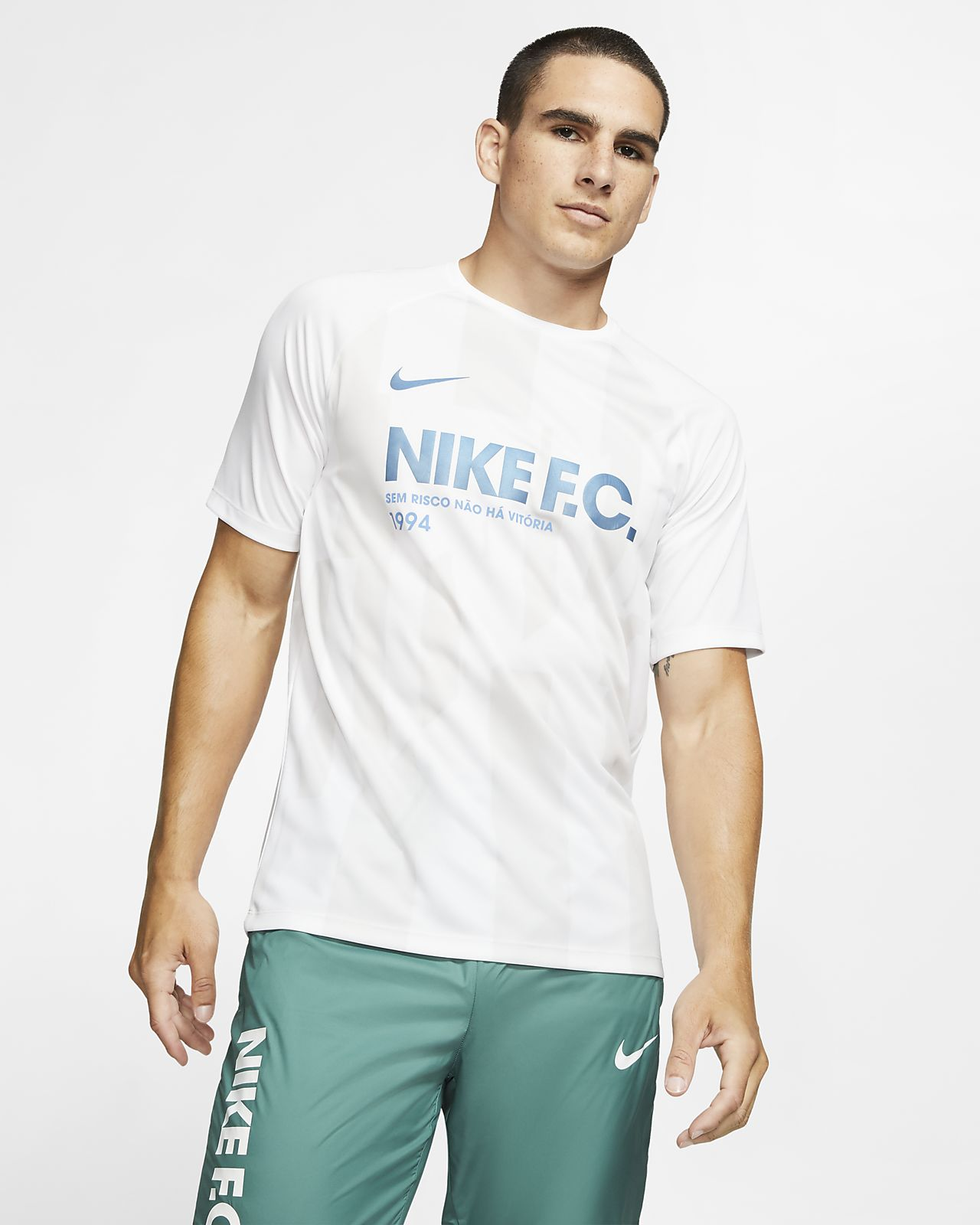 Nike F.C. Voetbalshirt met korte mouwen voor heren