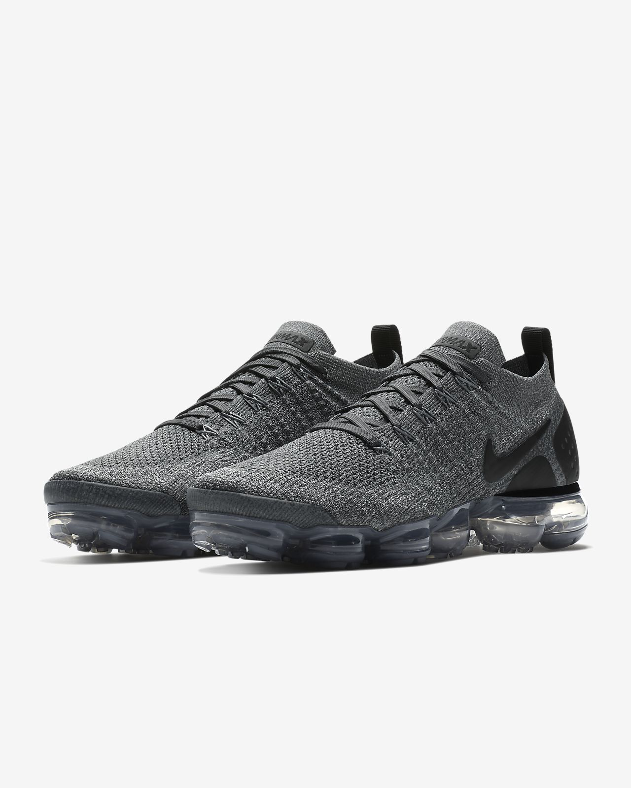 Nike Performance AIR VAPORMAX FLYKNIT 2 - Neutral running shoes - dark grey/black/wolf grey/black bAyicNj