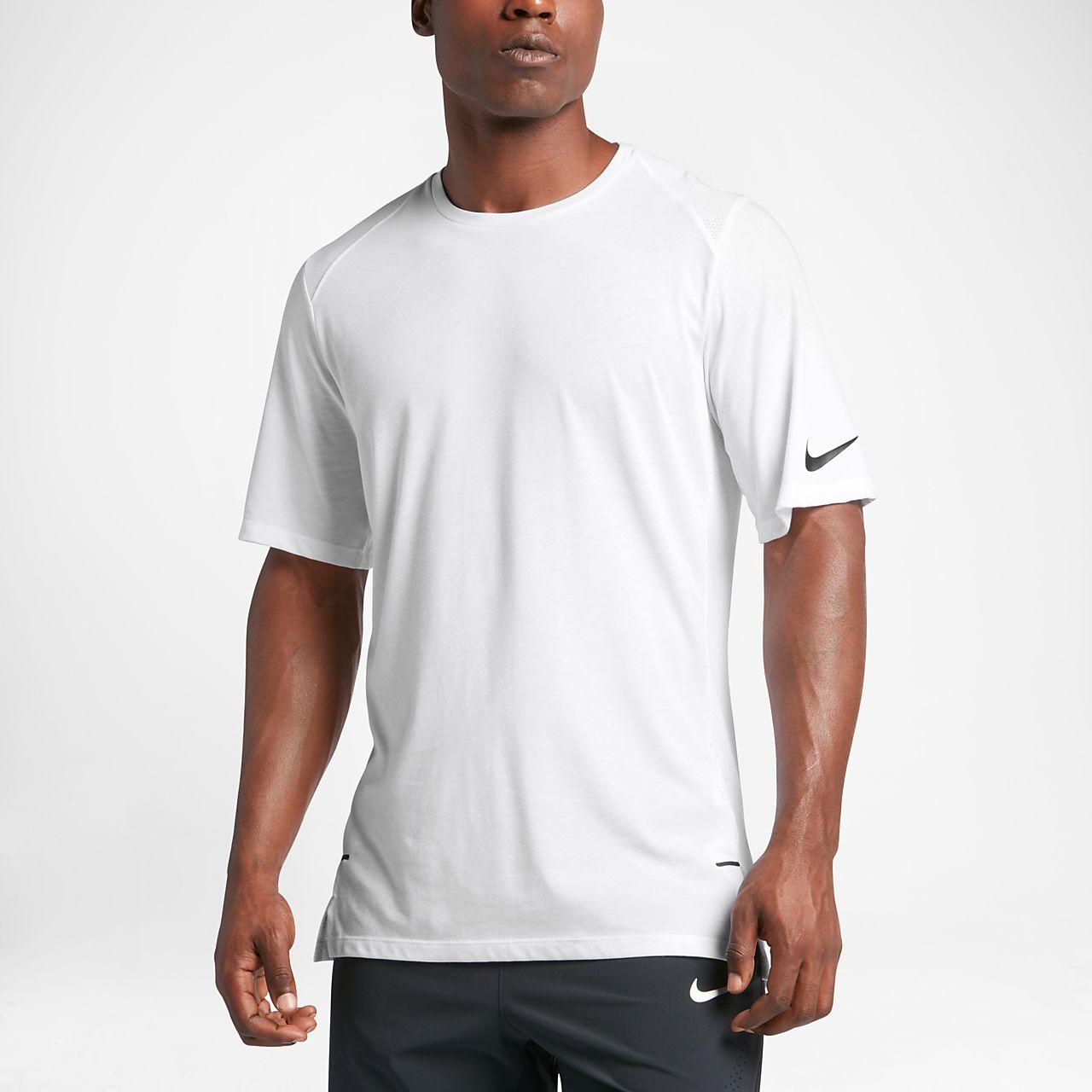 Nike Elite Men's Short Sleeve Basketball Top White/Black