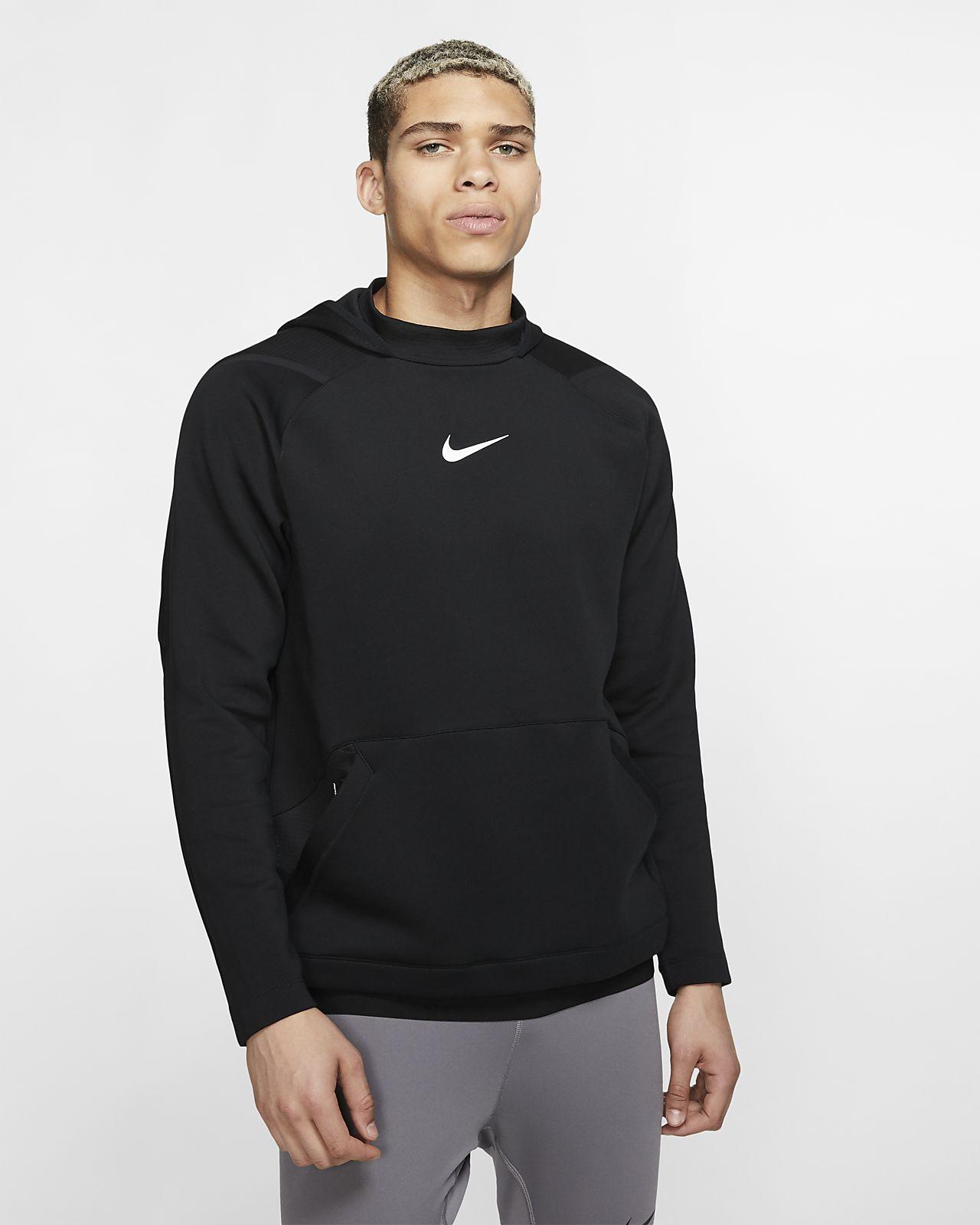 Hoodie pullover de lã cardada Nike Pro para homem